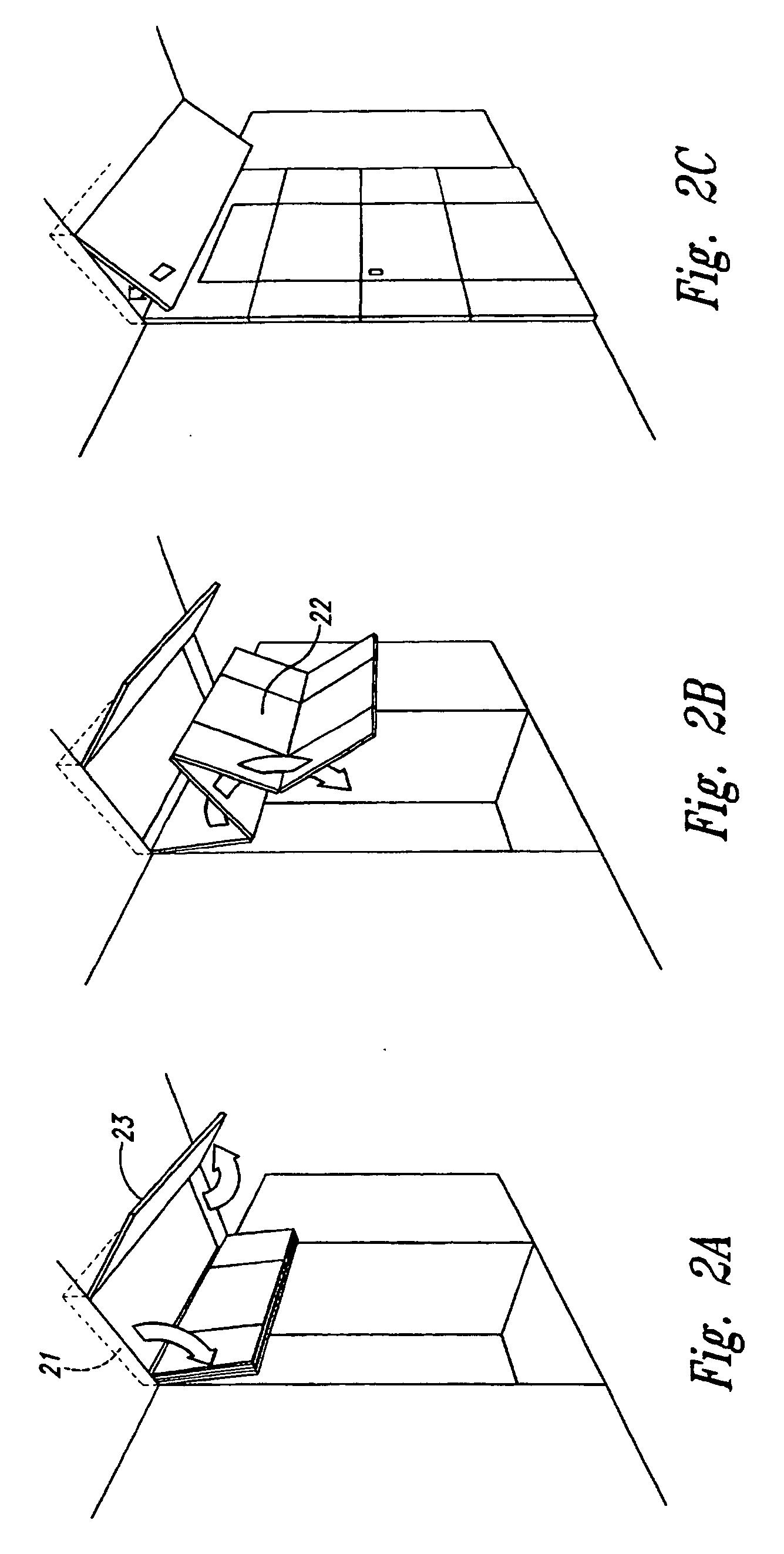 patent ep1106502b1 cloison pliable avec porte int gr e. Black Bedroom Furniture Sets. Home Design Ideas