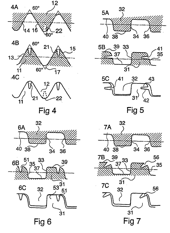 patent ep1110020b1 assemblage filete de deux tubes metalliques avec gorge dans le filetage. Black Bedroom Furniture Sets. Home Design Ideas
