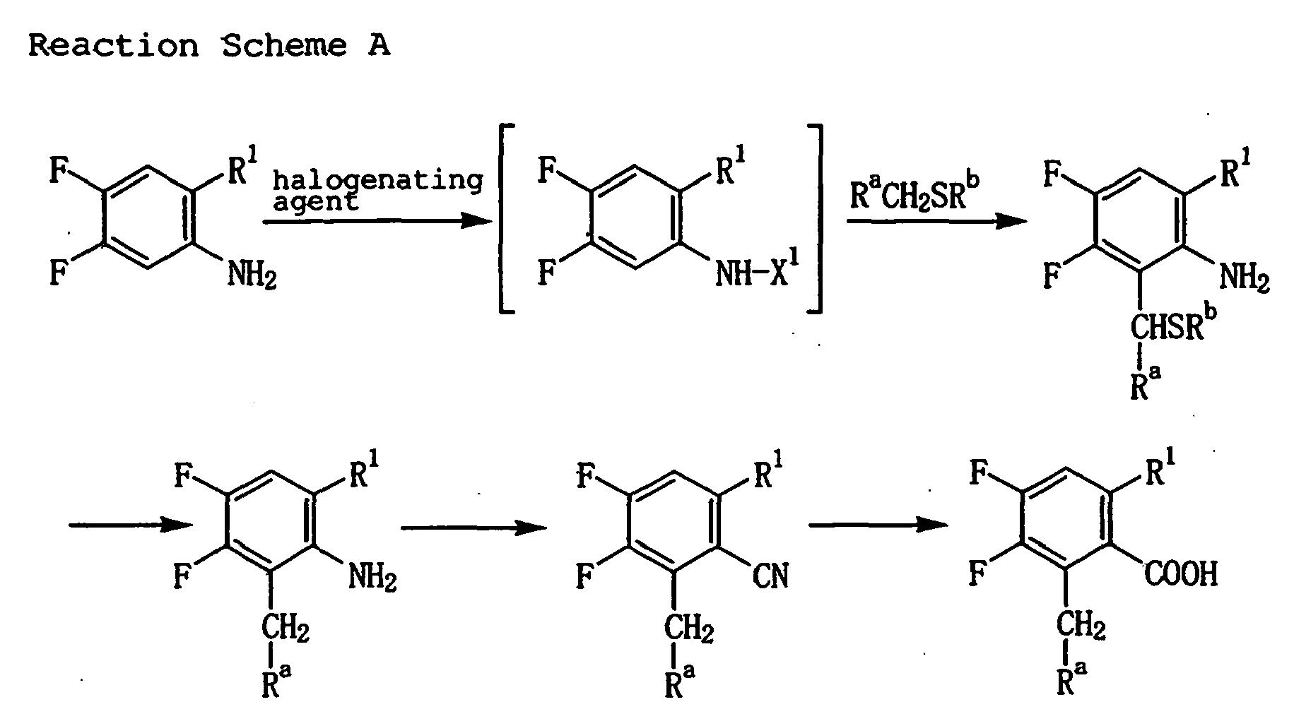 benzoic acid naphthalene