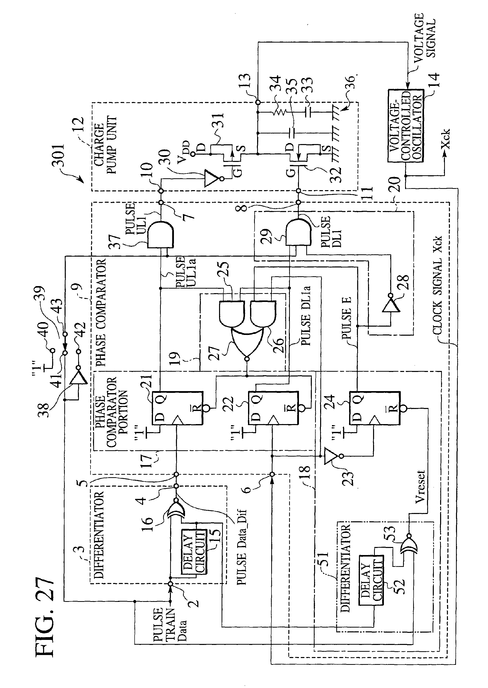 Patent Ep1158680a1 Phase Comparator And Clock Recovery Circuit Timer Delay Schematic 3 Power On Drawing