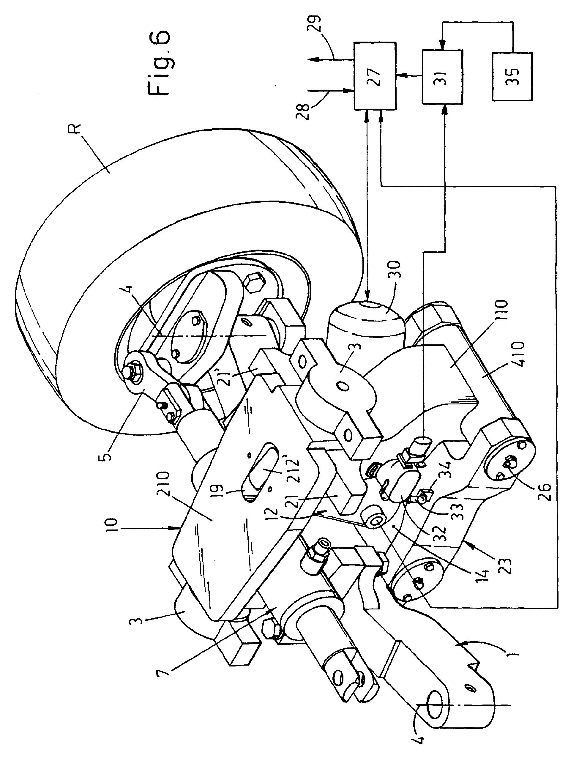 patent ep1162092b1 fahrzeugaufh ngung mit zwei lenkbare. Black Bedroom Furniture Sets. Home Design Ideas