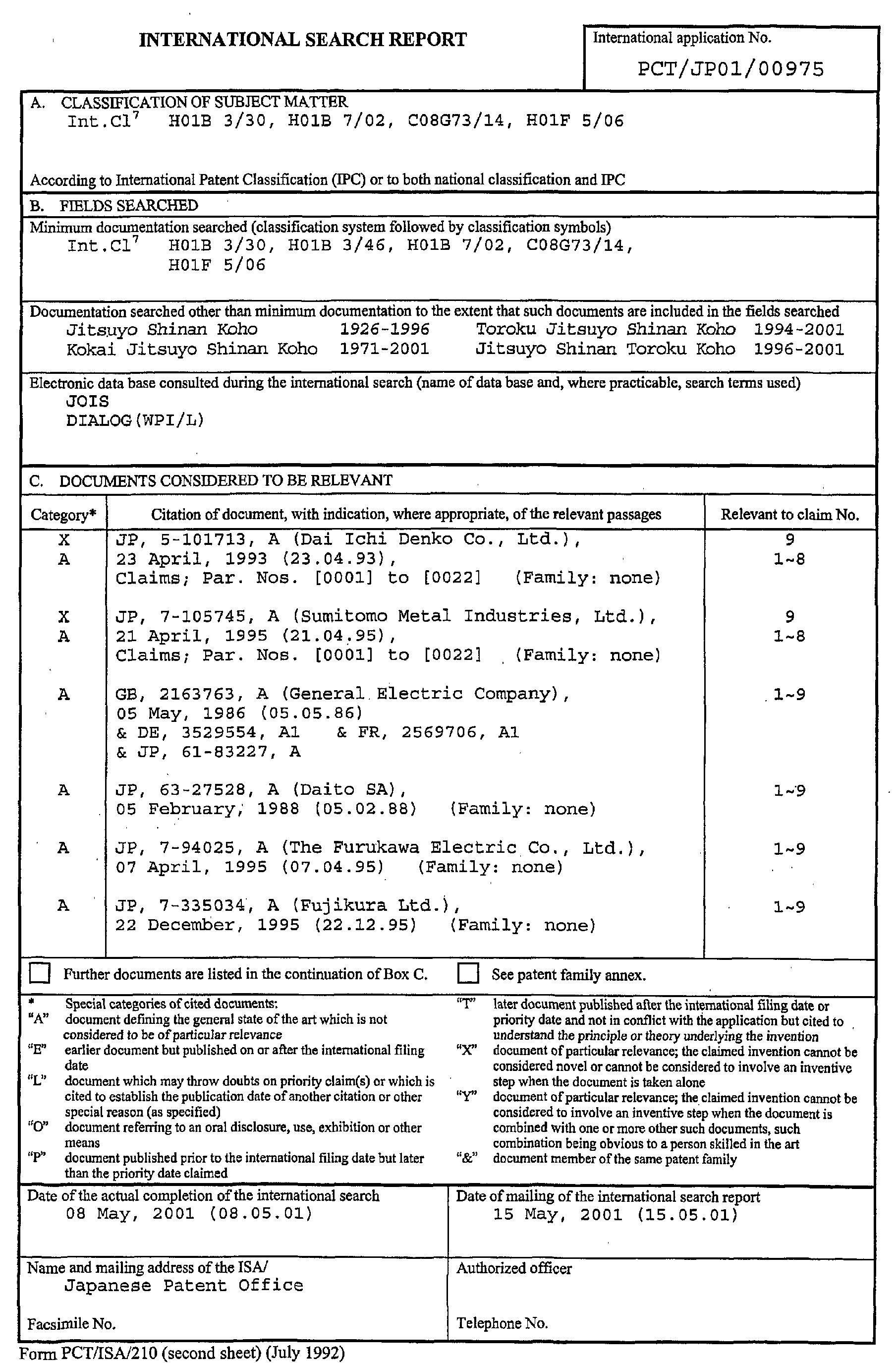 Patent EP1176611A1 - Beschichteter draht - Google Patents