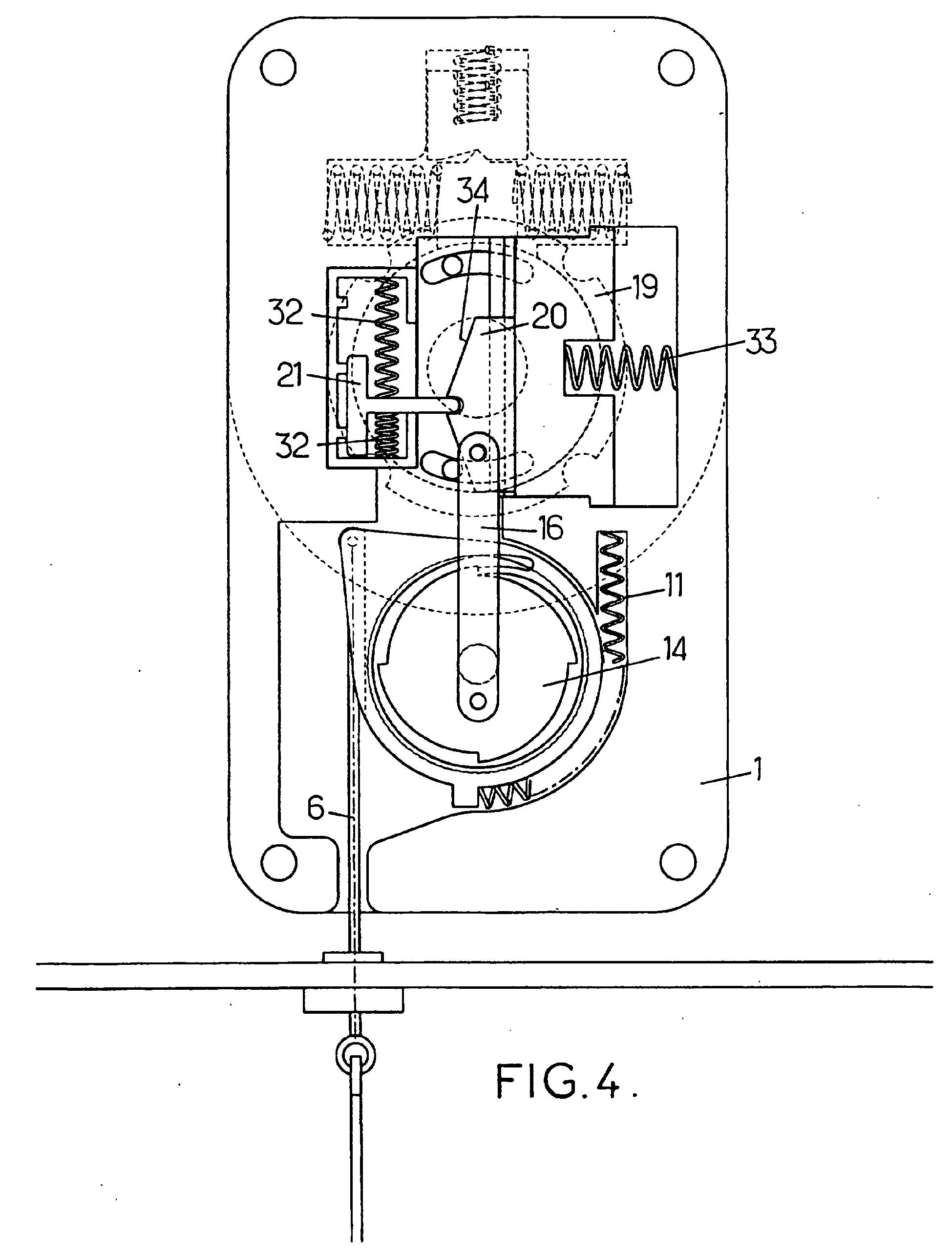 patent ep1182321b1 dispositif de commande manuelle d 39 un moteur lectrique pour volet roulant. Black Bedroom Furniture Sets. Home Design Ideas
