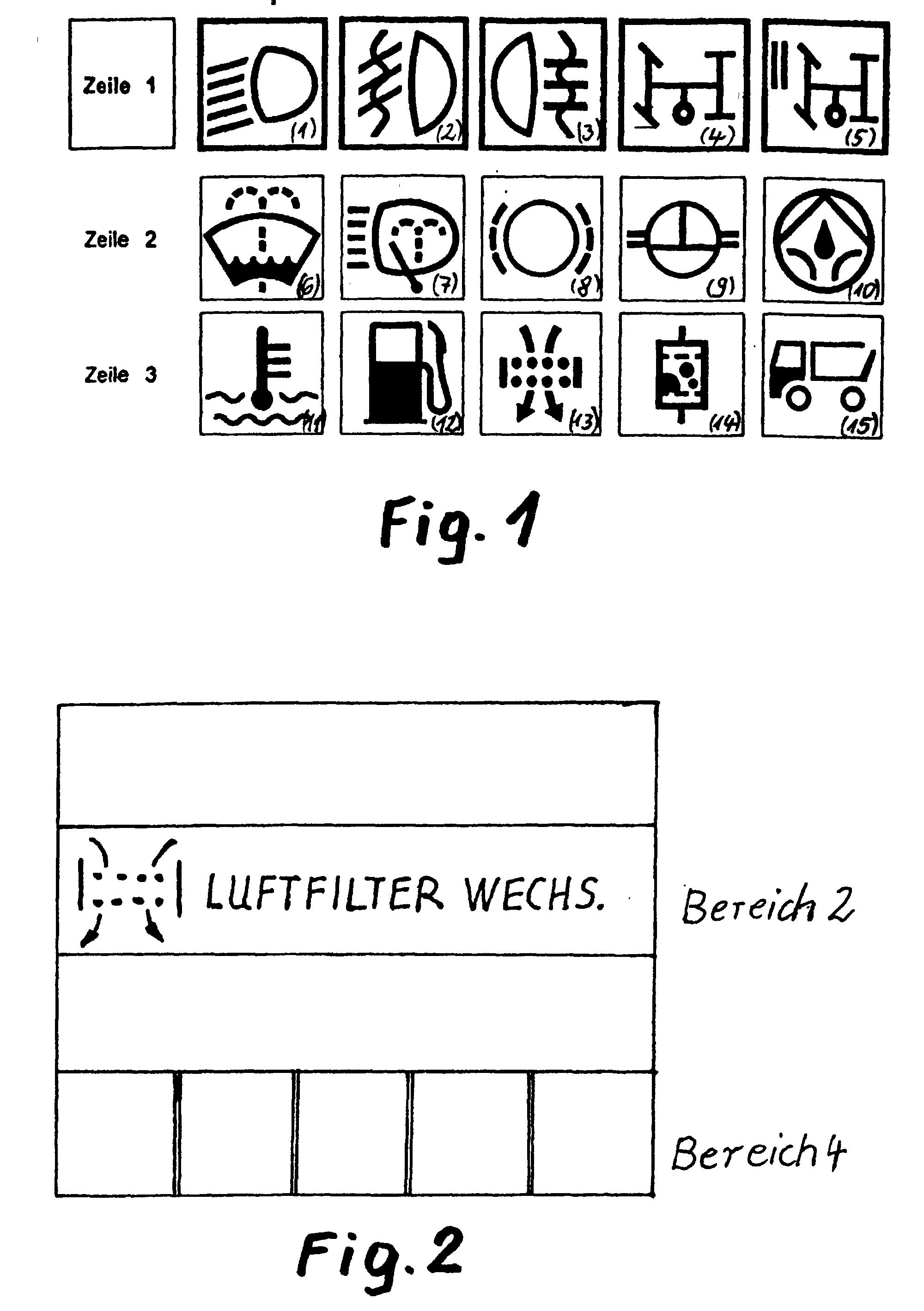 براءة الاختراع EP1195722B1 - Verfahren zur Anzeige von Ereignissen ... | {Armaturenbrett symbole 35}