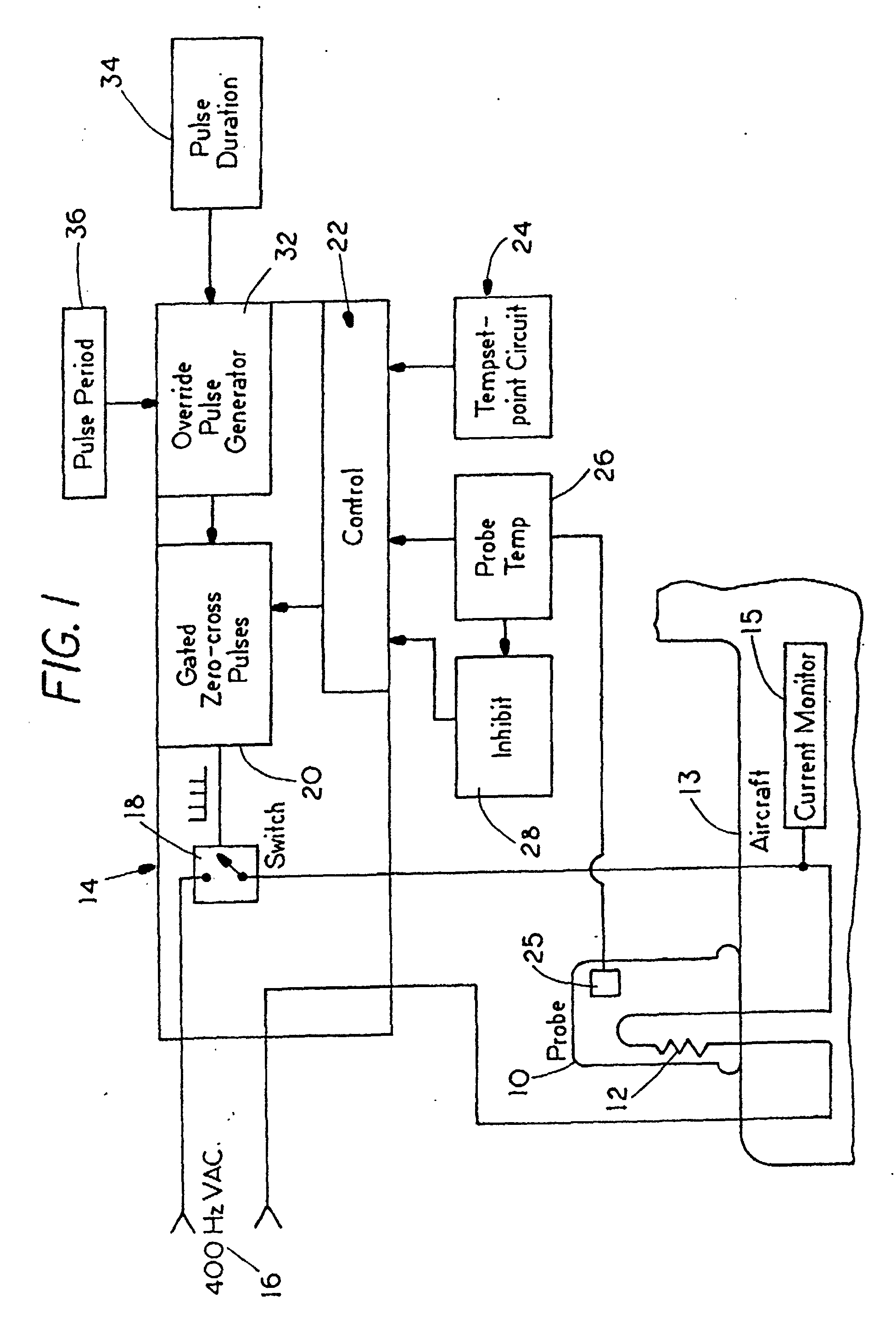 patent ep1204012b1 - active heater control circuit and method used for aerospace probes