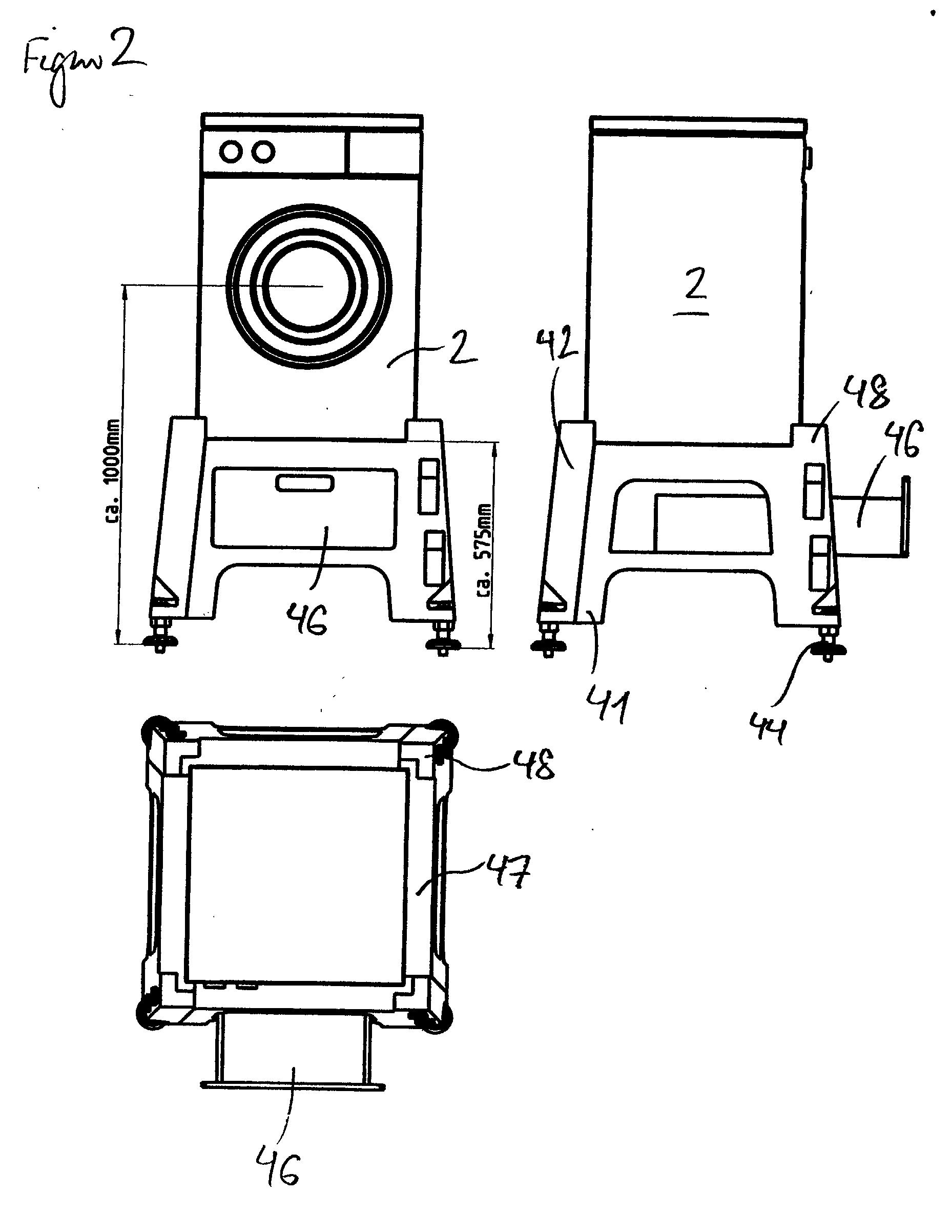 patent ep1205129a1 mehrteiliger sockel f r elektroger te insbesondere waschmaschinen google. Black Bedroom Furniture Sets. Home Design Ideas