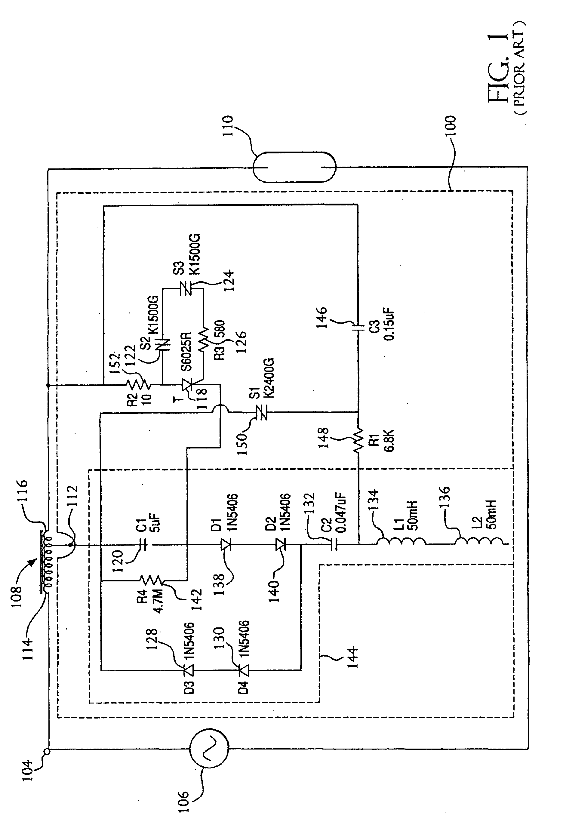 Patent Ep1206169a2 Method And Apparatus For Disabling Sodium Sidac Basic Operation Drawing