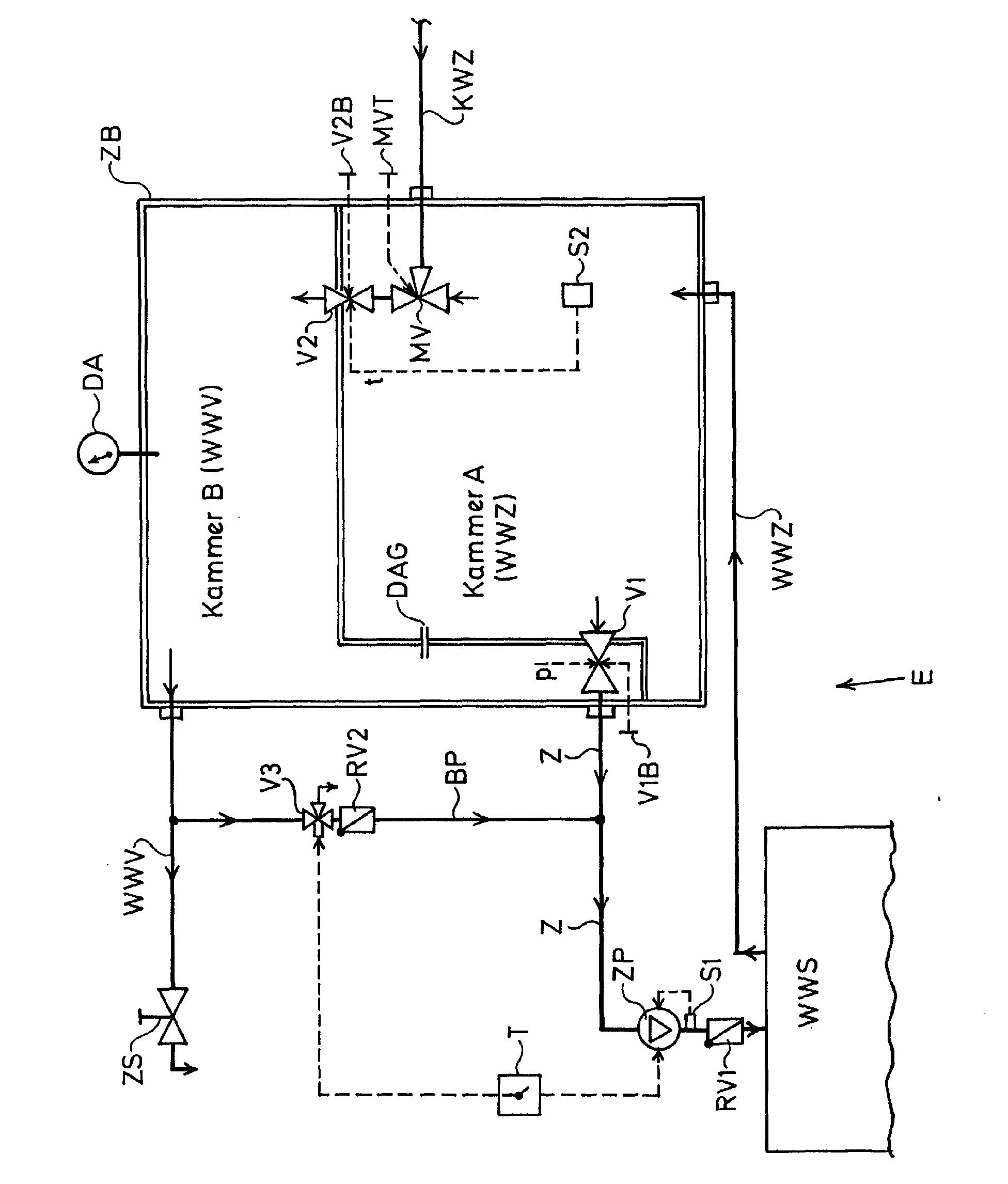 patent ep1217311a2 einrichtung f r die bereitstellung von warmwasser in einer sanit ren. Black Bedroom Furniture Sets. Home Design Ideas