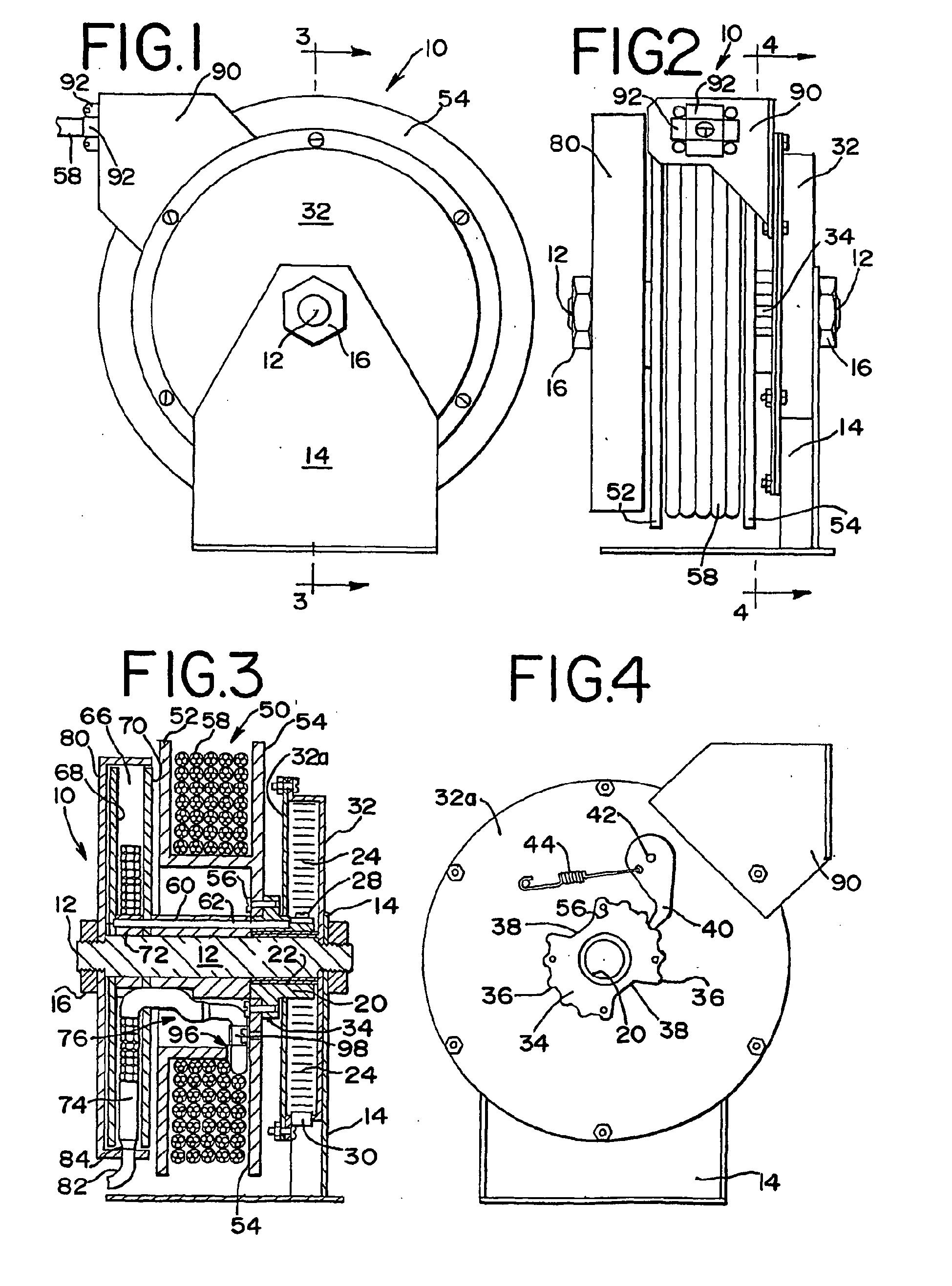 patent ep1224141b1 - retractable cord reel