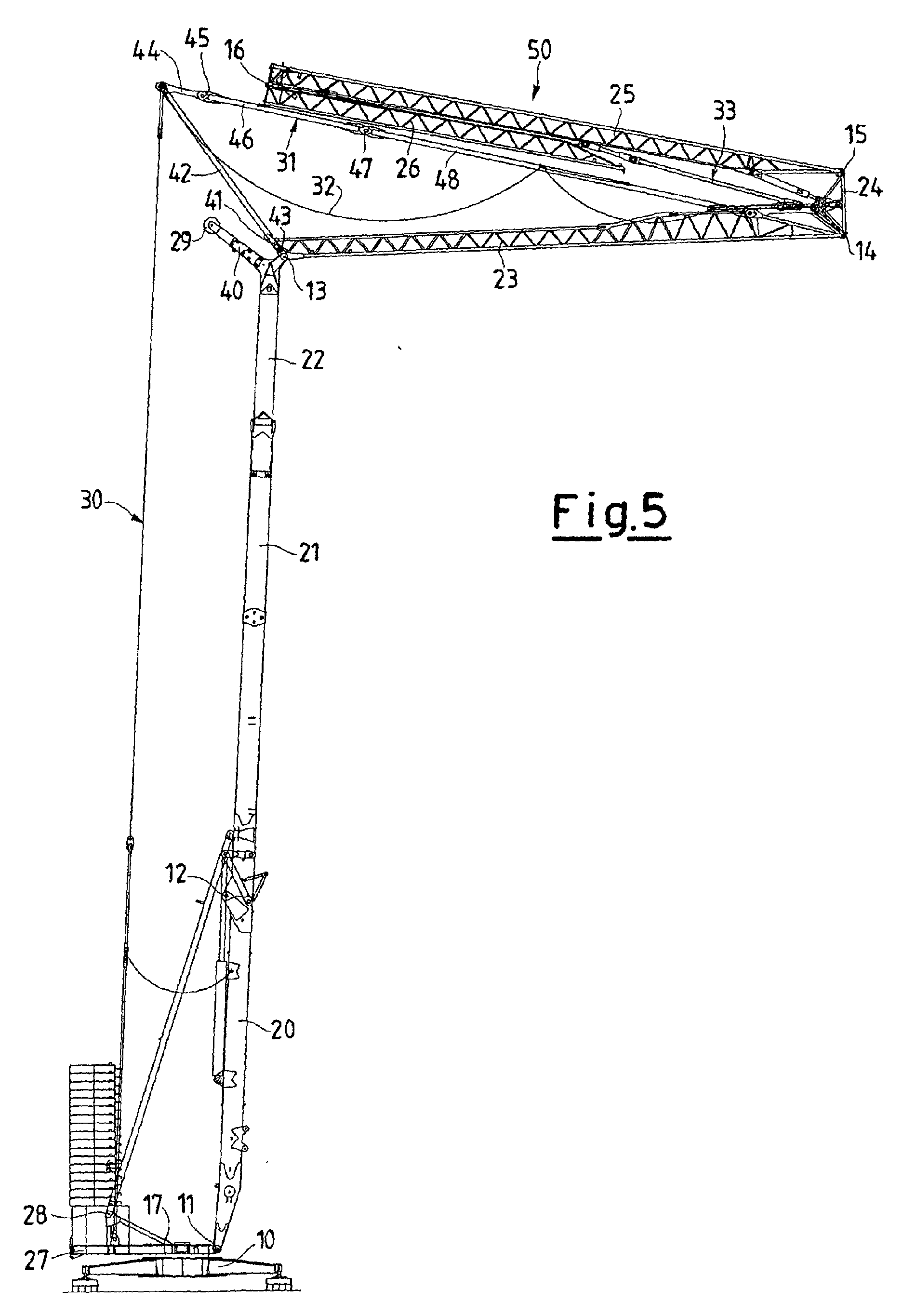 Tower Crane Self Assembly : Patent ep a tower crane self assembling with