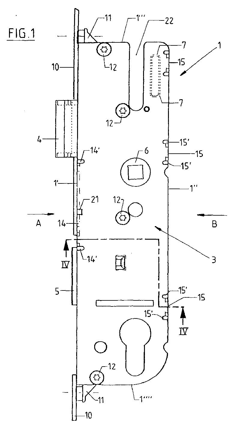 专利ep1225289a3 - lock