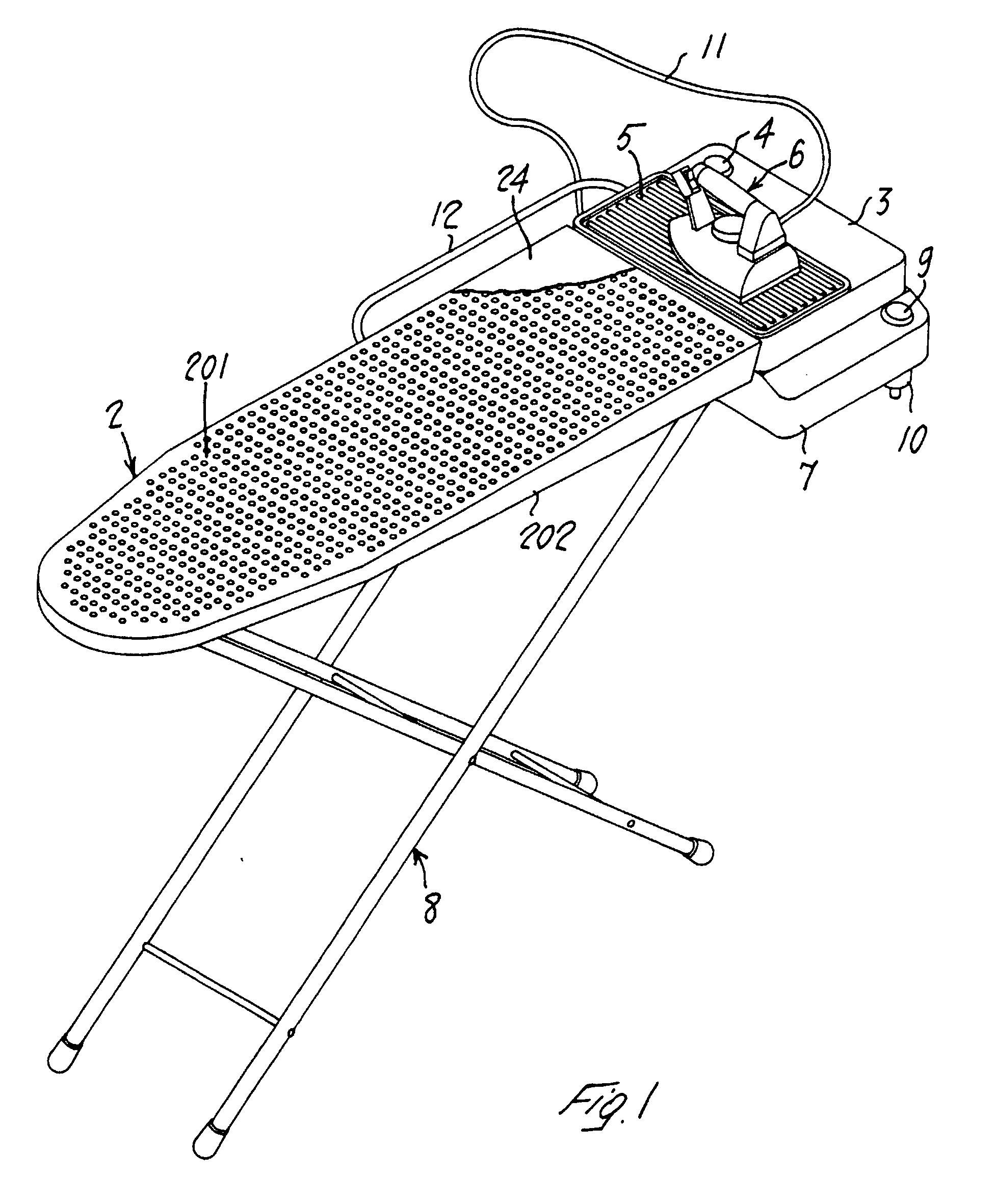 patent ep1233102b1 planche repasser avec r cuperateur. Black Bedroom Furniture Sets. Home Design Ideas
