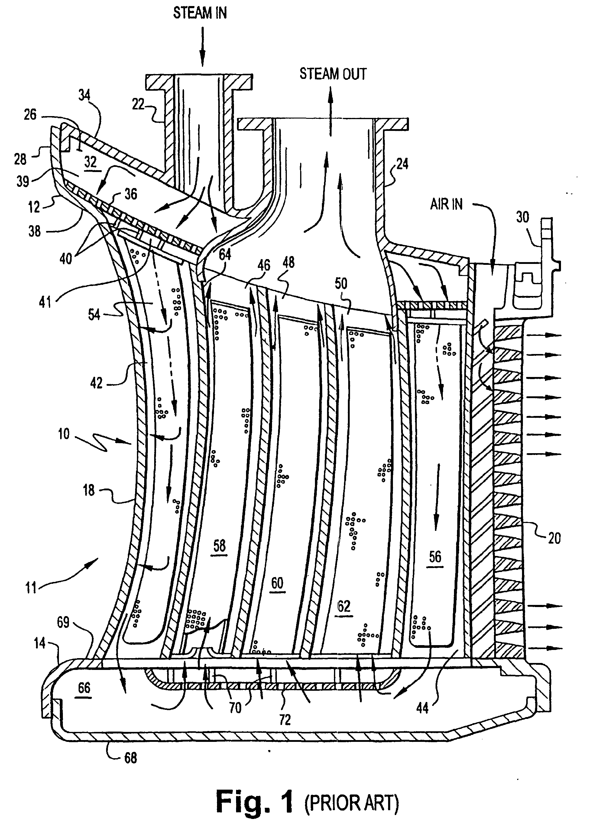 Patent EP A2 Gas turbine nozzle vane insert and methods of