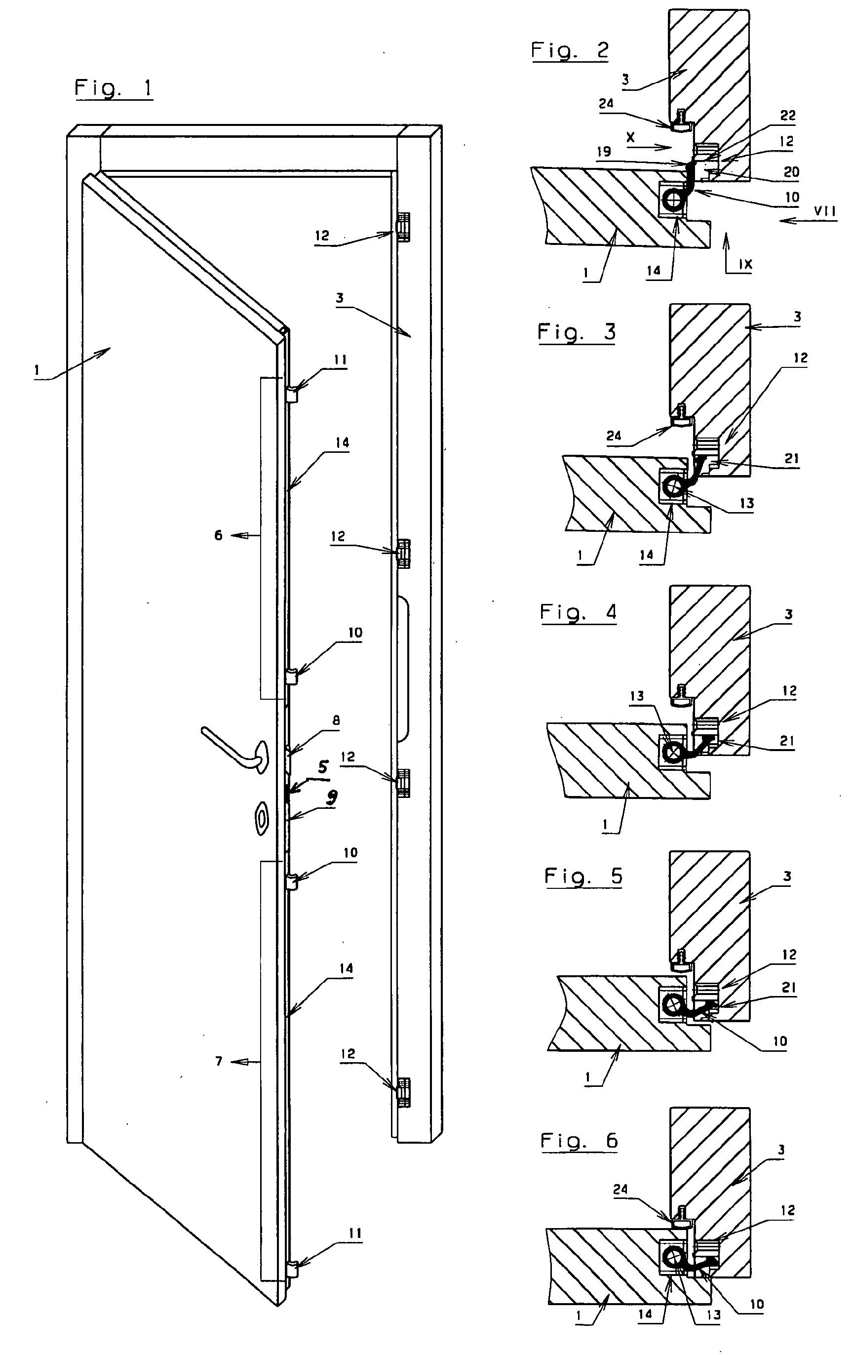 Tür vertikalschnitt  Patent EP1234939A2 - Vorrichtung zur Verriegelung, Halterung und ...
