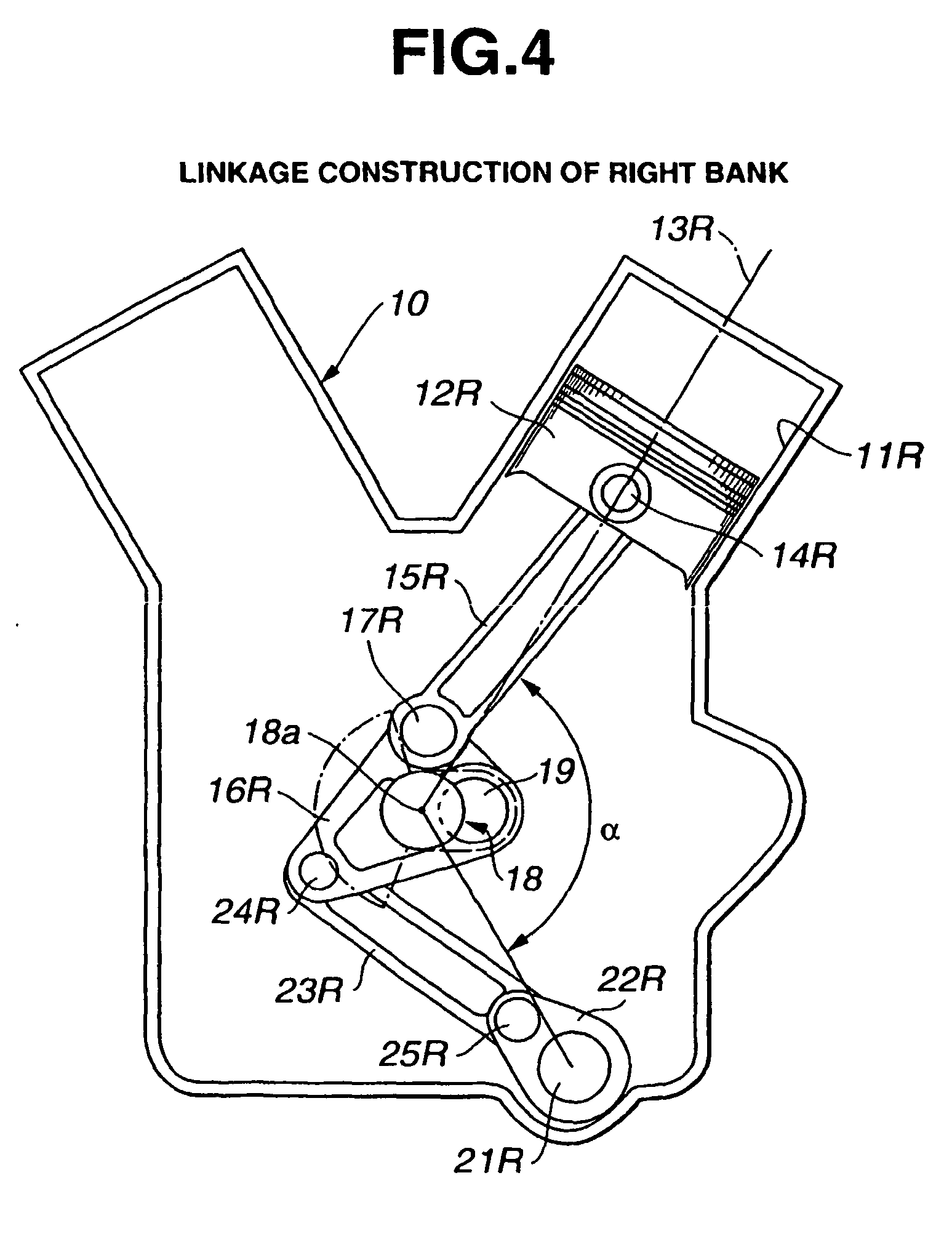 patent ep1236877b1 piston actuation system of v type engine patent drawing