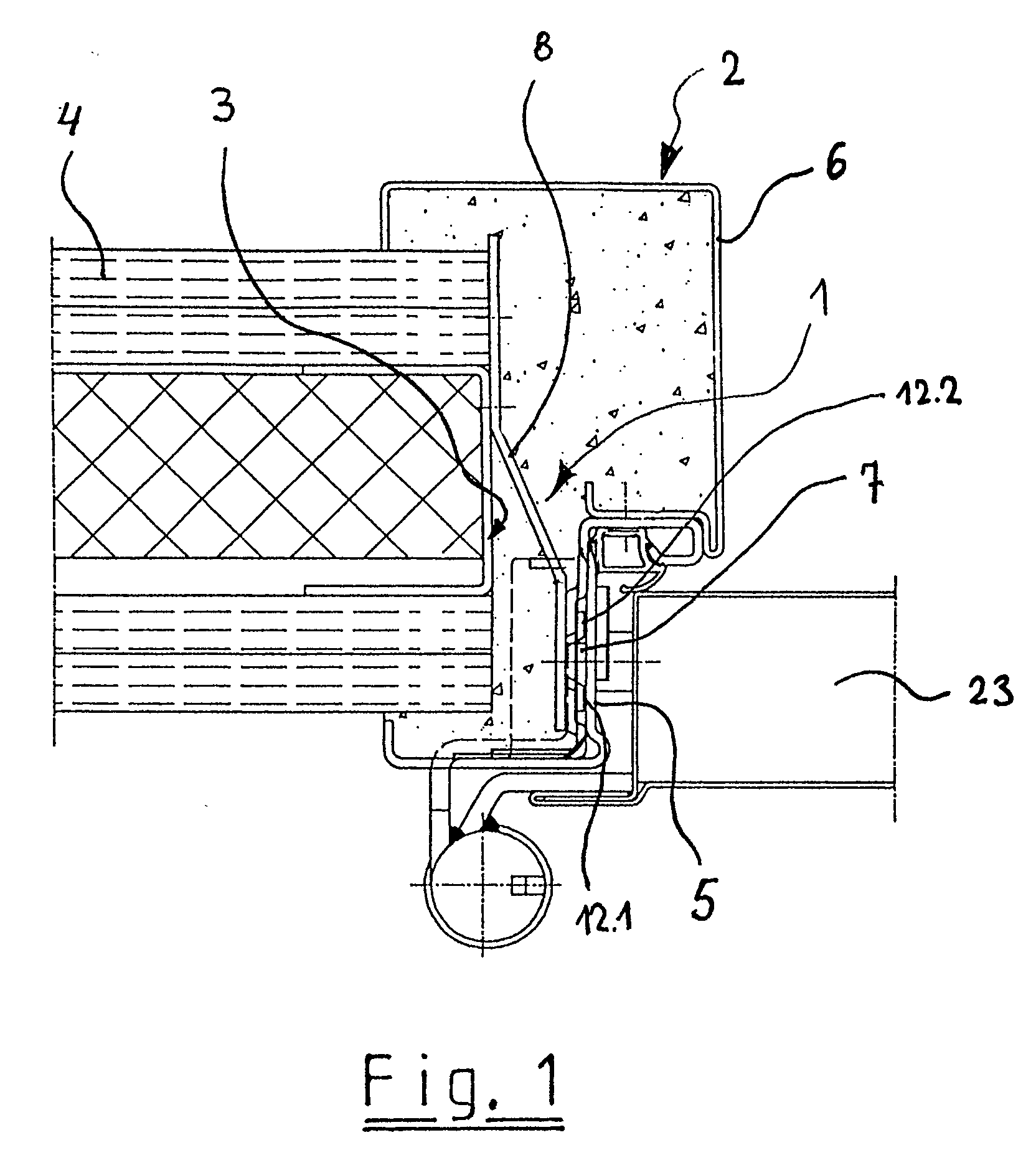 Stahleckzarge  Patent EP1243737A2 - Vorrichtung zur Befestigung eines ...