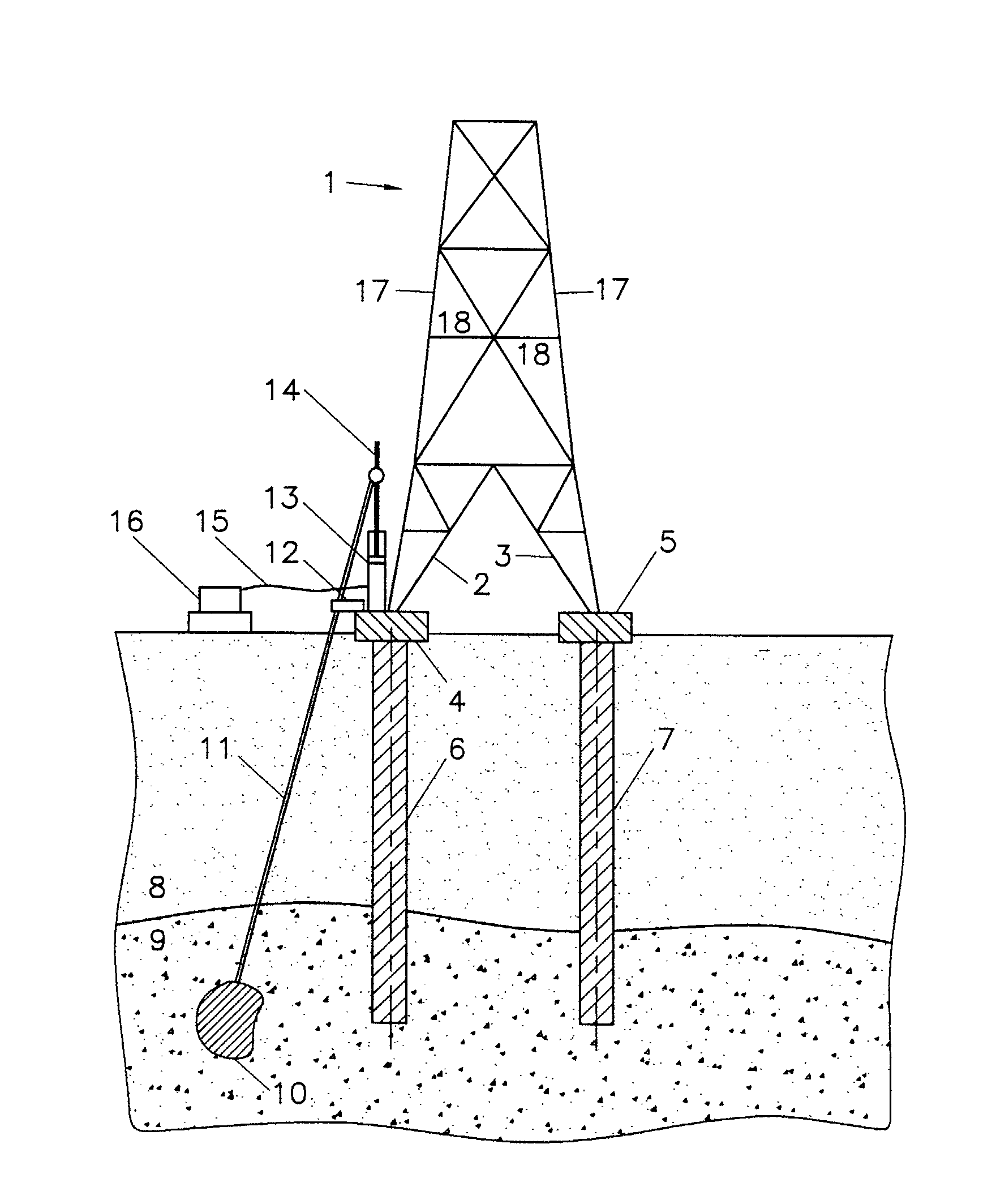 patent ep1253252a1 high voltage pylon with strengthened