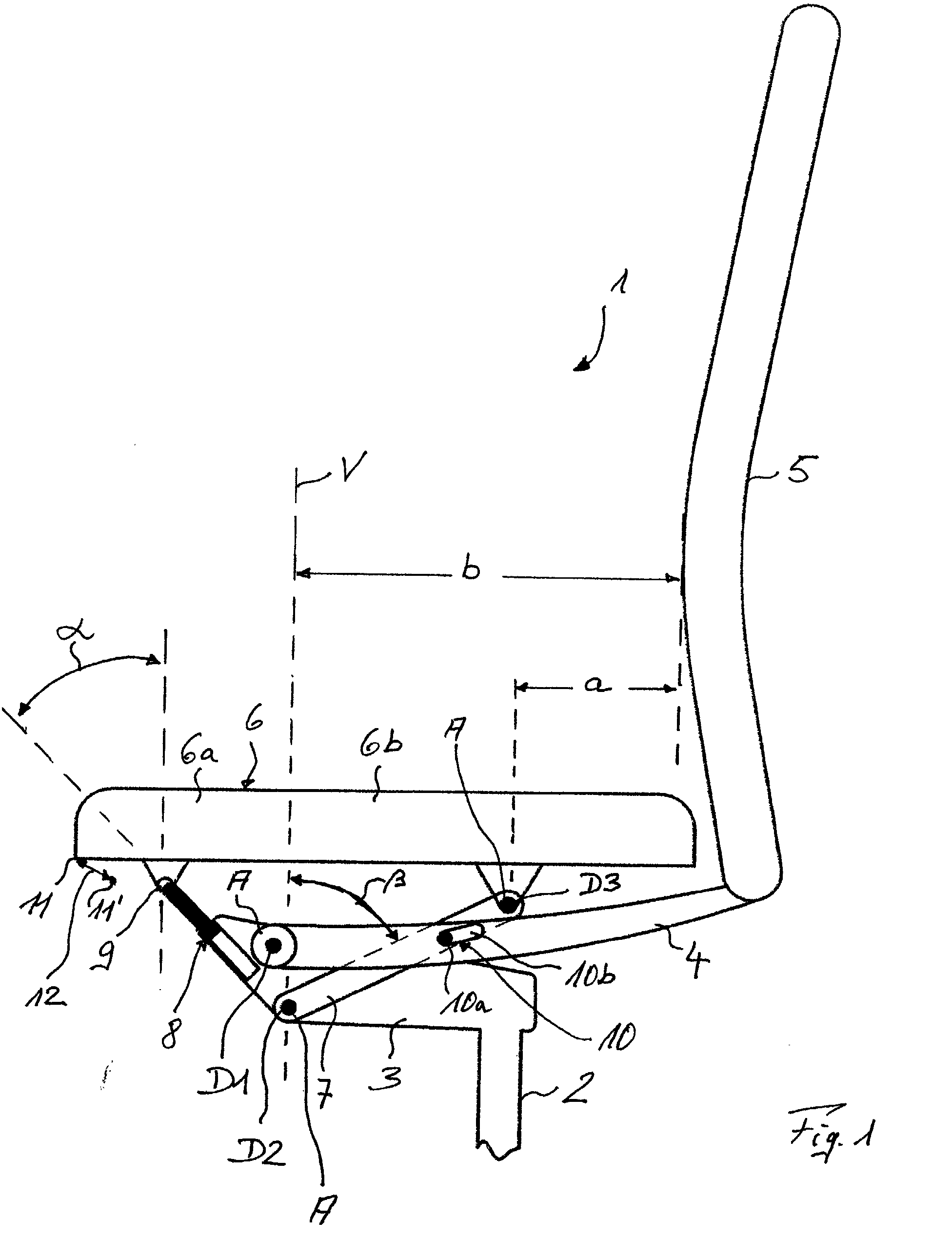 Patent ep1256292a1 stuhl insbesondere b rostuhl for Stuhl design dwg