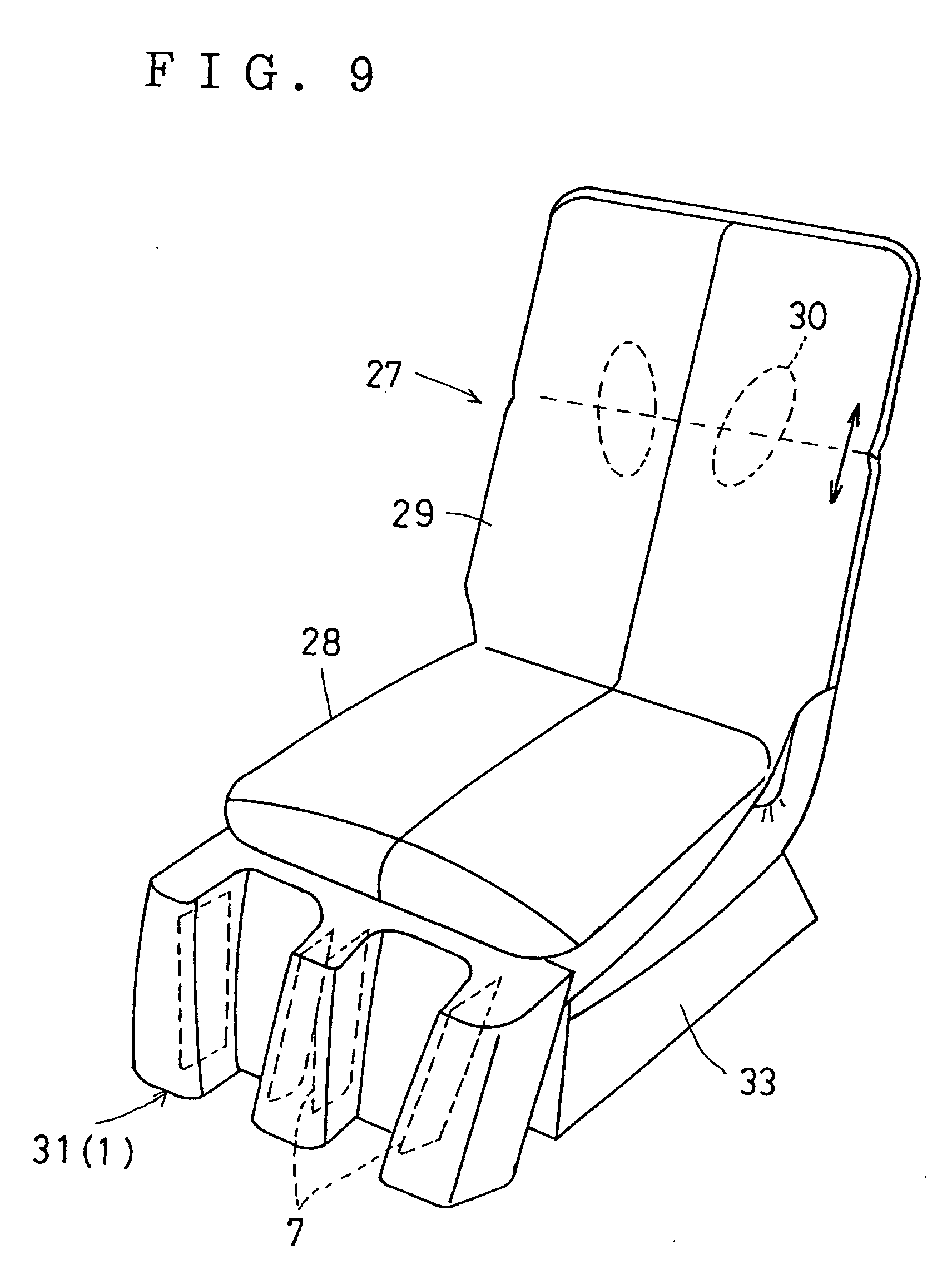 Patente EP A1 Vibrator for lower limbs and chair type