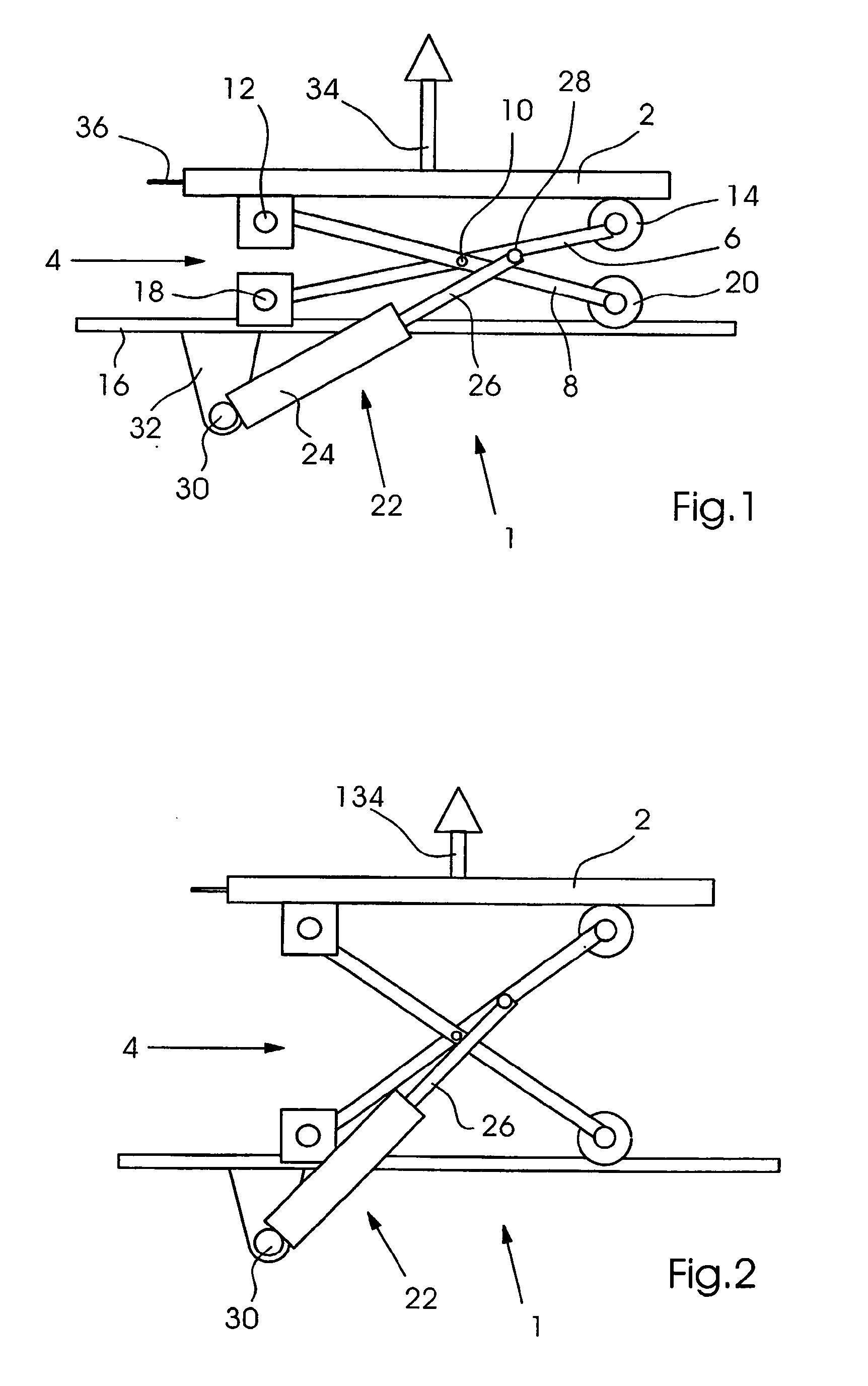 patent ep1275611b1 scherenhubtisch google patents. Black Bedroom Furniture Sets. Home Design Ideas
