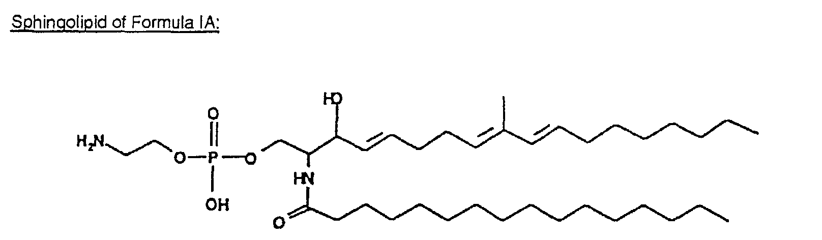 Example 2  Isolation and characterization of sphingolipids from    Sphingolipid Structure
