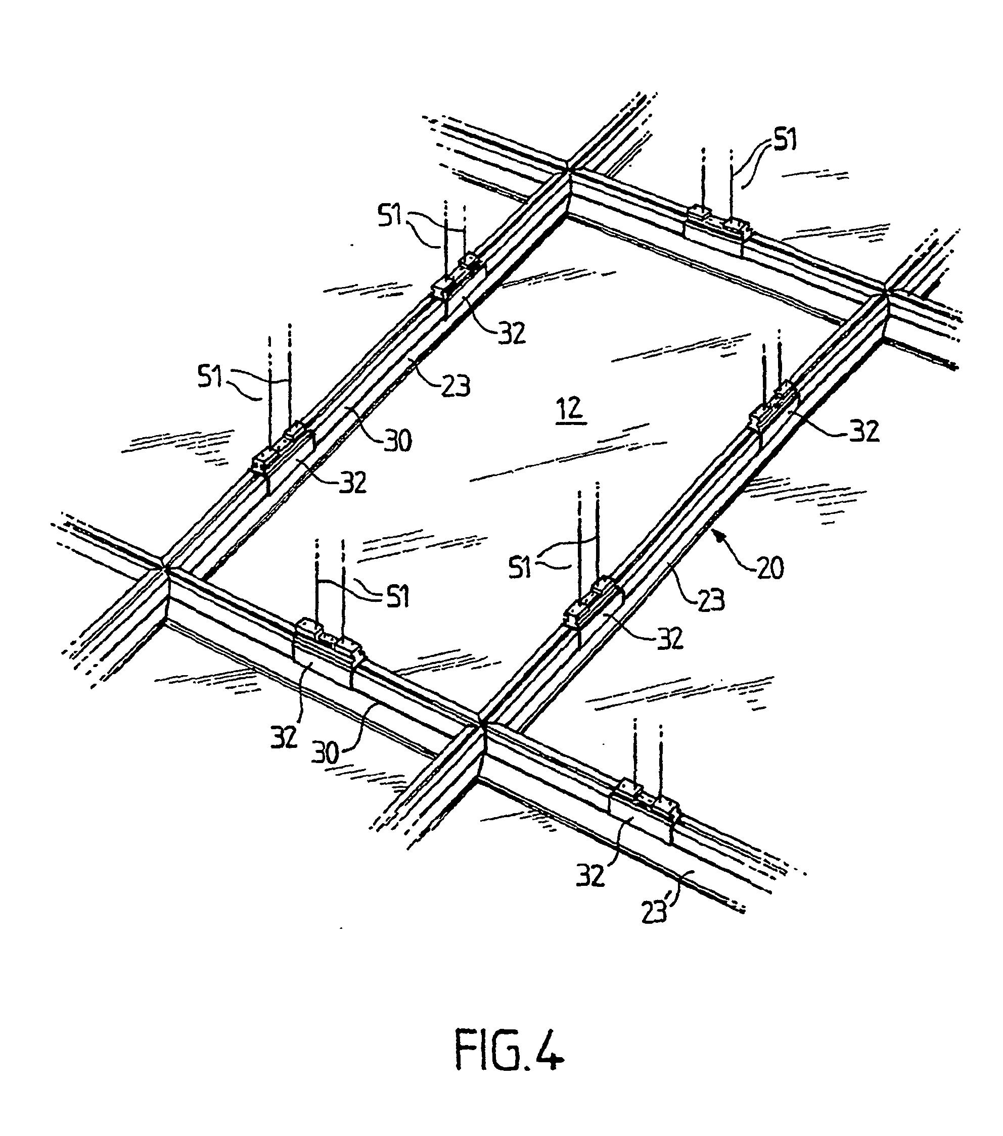 patent ep1303671b1 fausse paroi et notamment faux