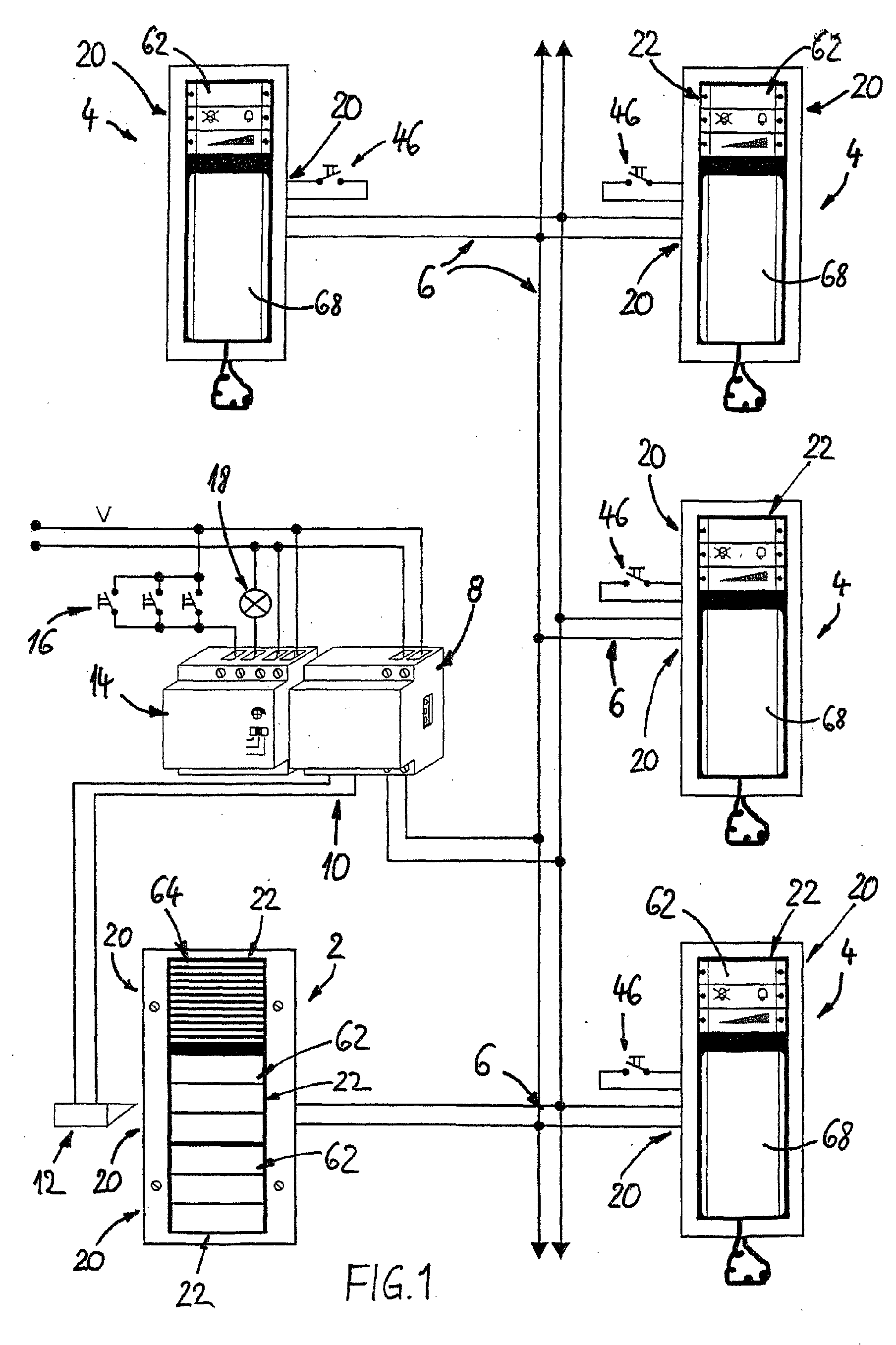 patent ep1320244a1 - modular door intercom system