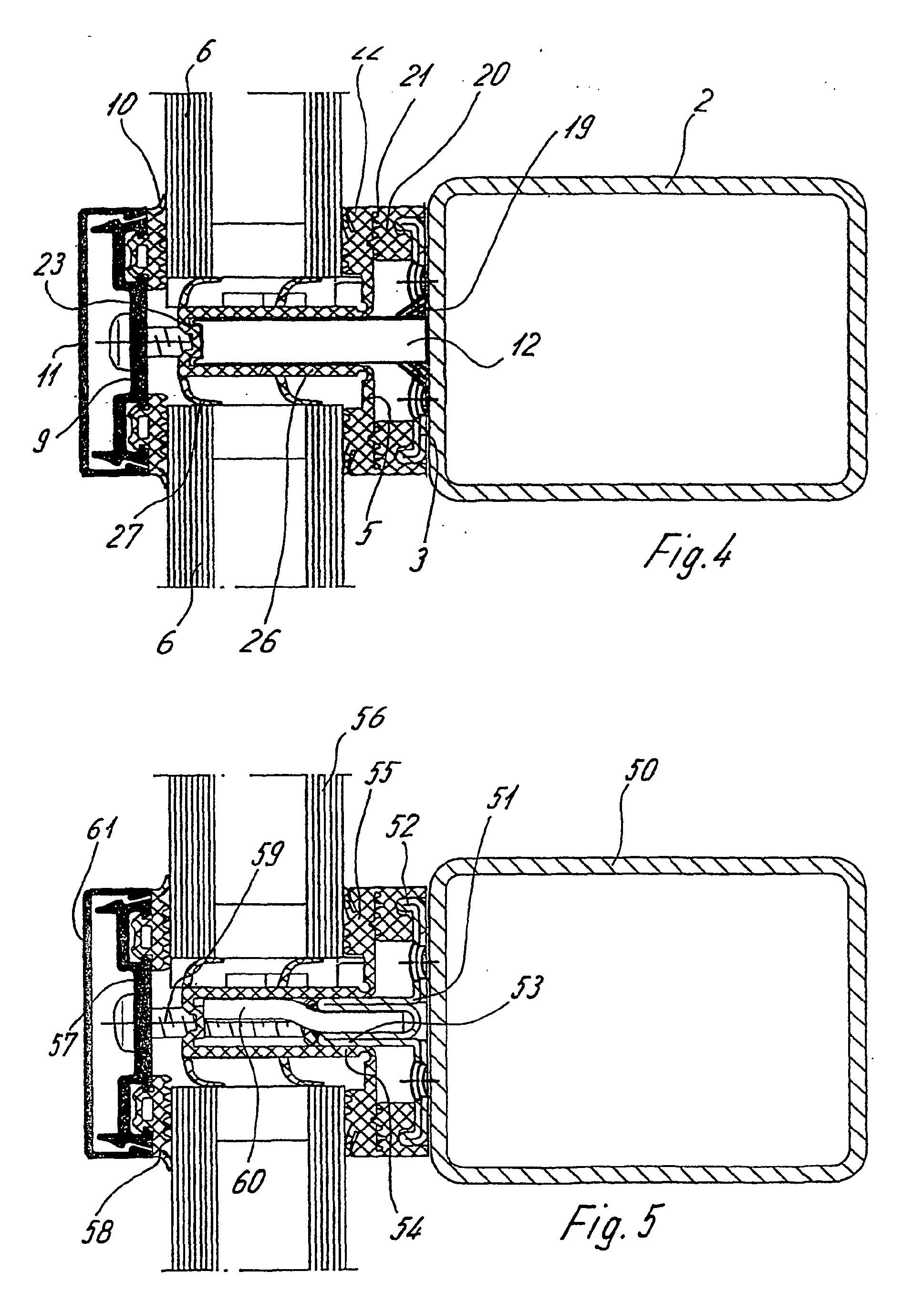 Patent ep1327035b1 tr gereinheit im glasfalz einer for Fachwerktrager stahl detail