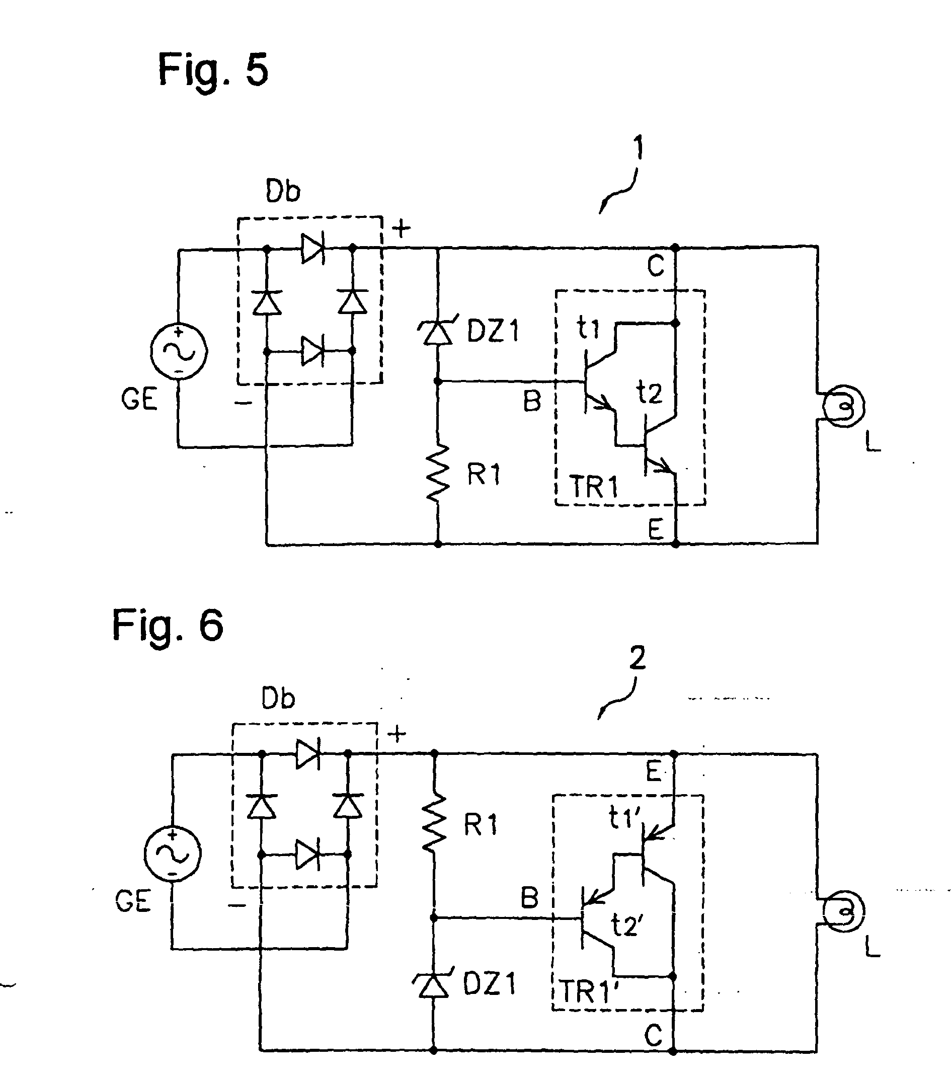 patent ep1335472b1 - voltage clamping circuit for a bicycle dynamo