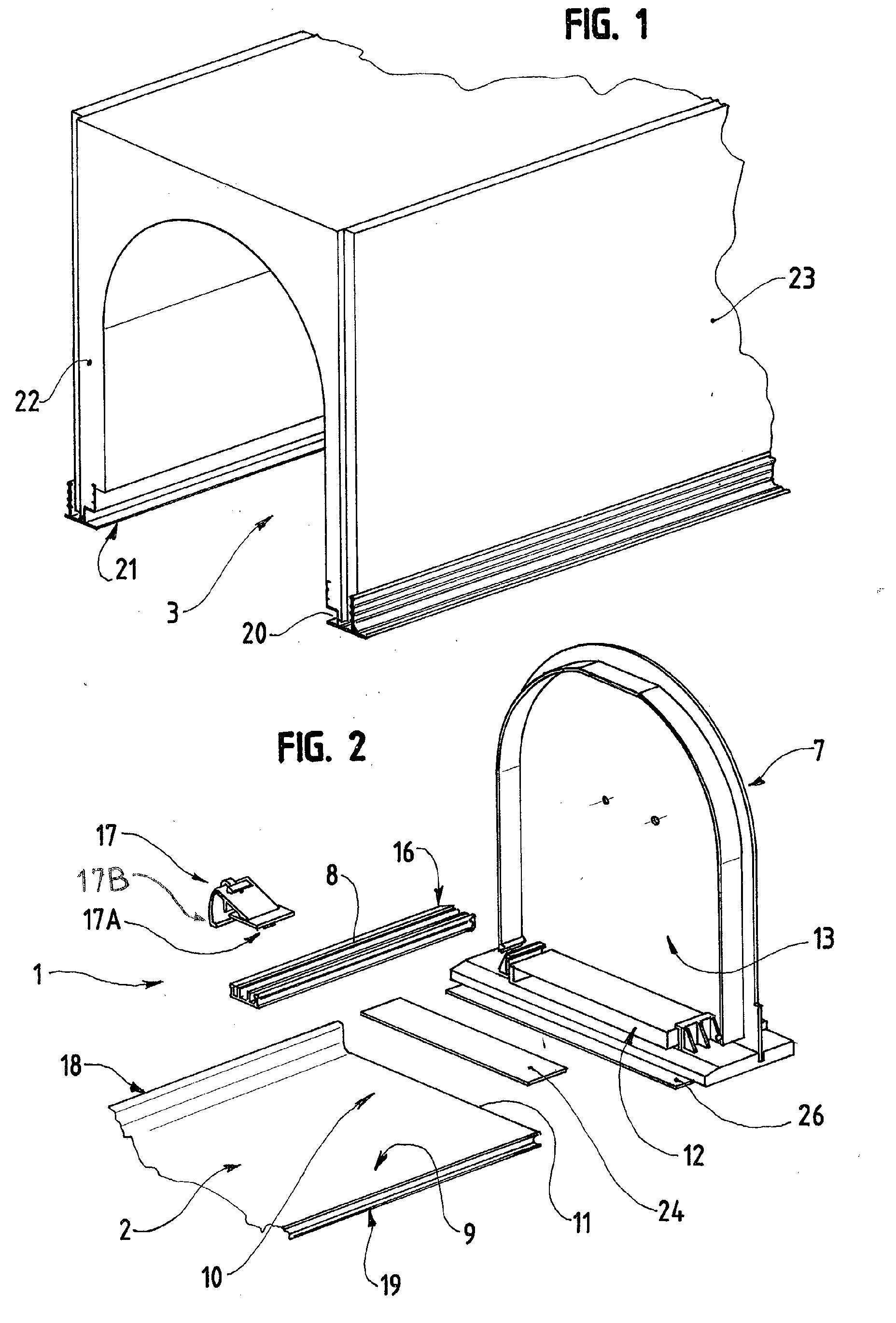 patent ep1336716a1 dispositif de fixation d 39 une sous face sur un caisson tunnel de volet. Black Bedroom Furniture Sets. Home Design Ideas