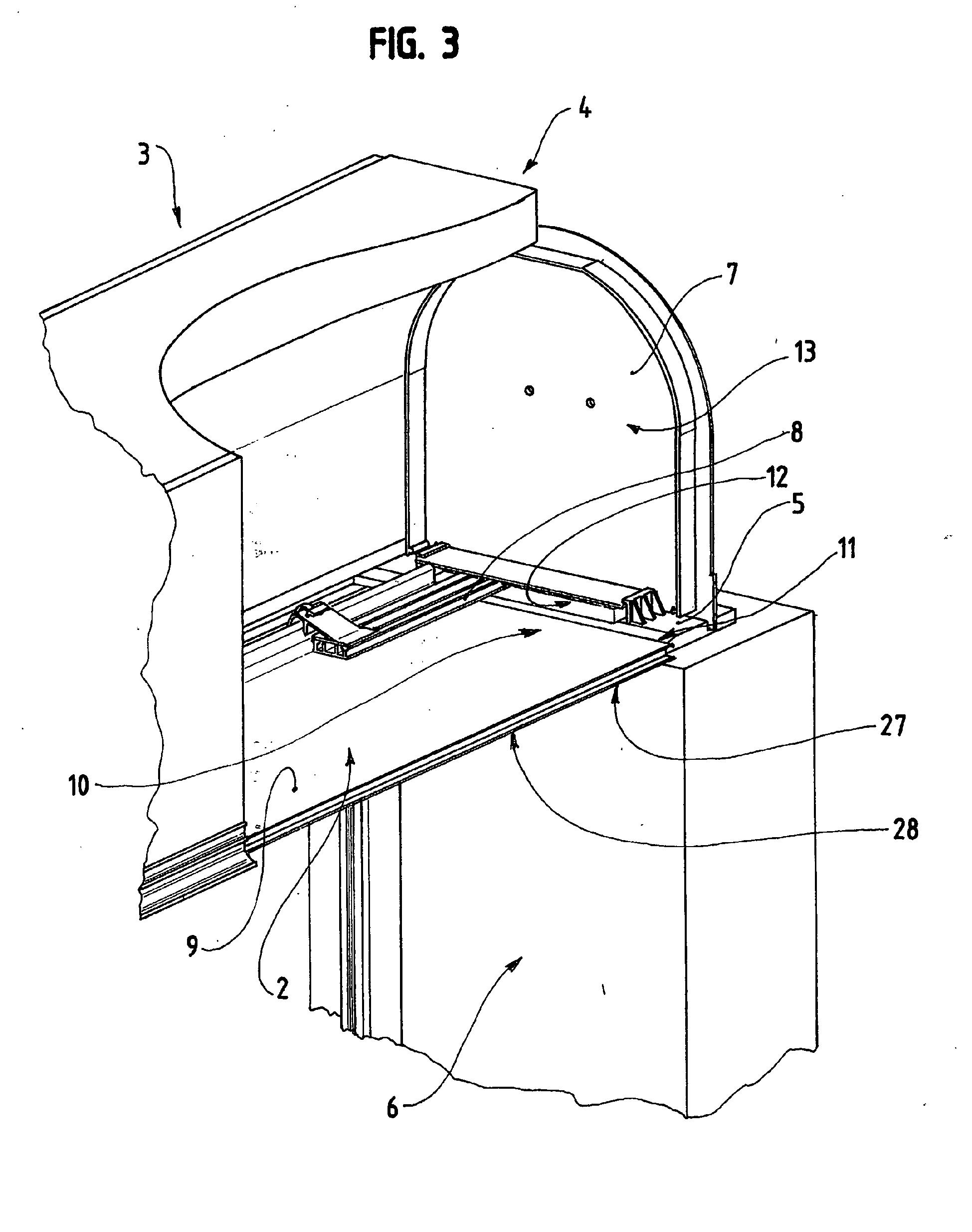 patent ep1336716b1 dispositif de fixation d 39 une sous face sur un caisson tunnel de volet. Black Bedroom Furniture Sets. Home Design Ideas