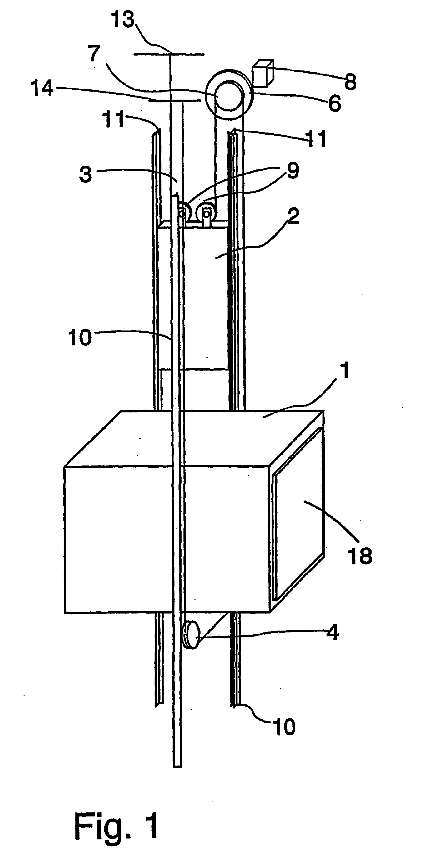 Rope And Pulley Elevator : Patent ep b elevator and traction sheave of an