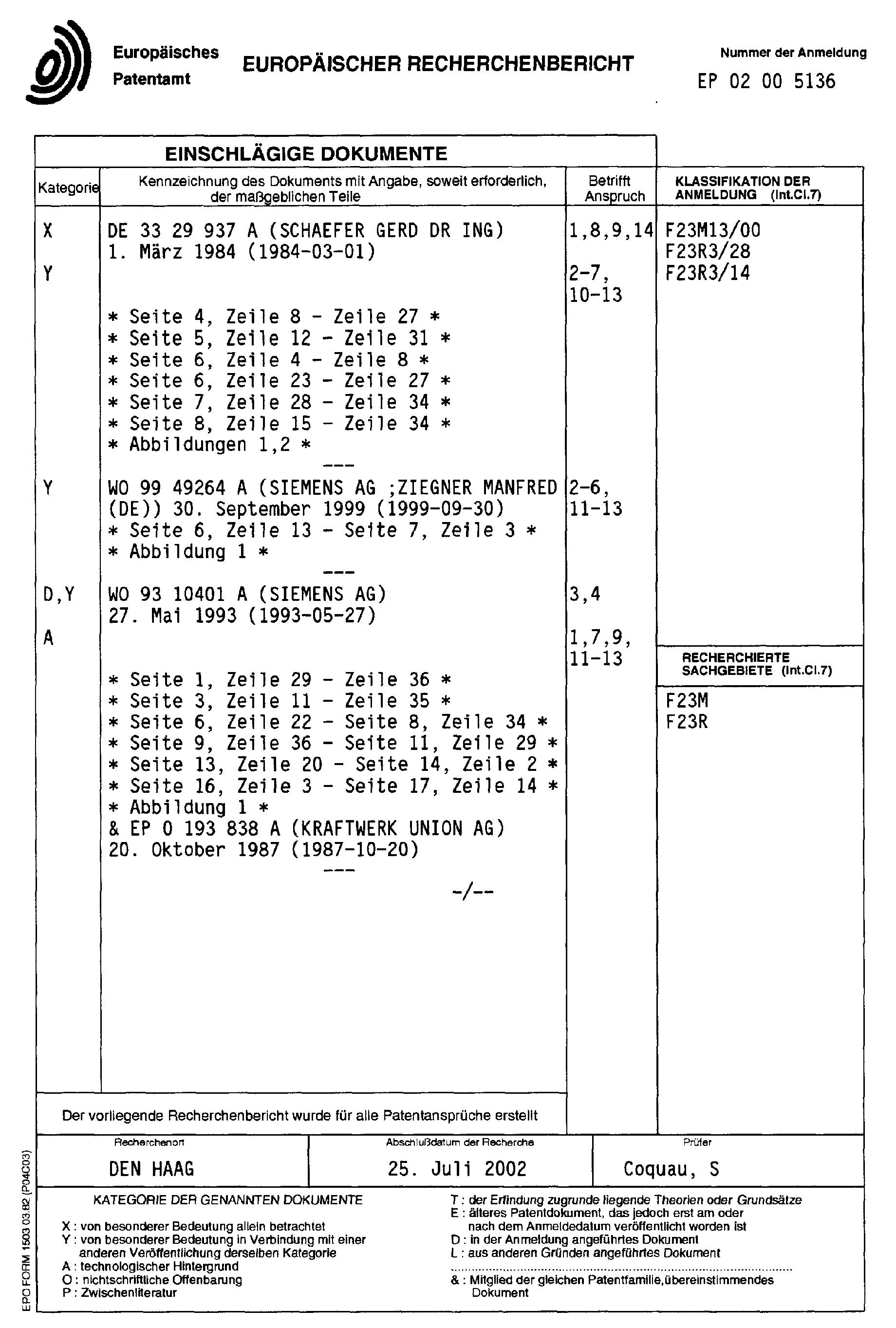 专利ep1342952a1 - brenner