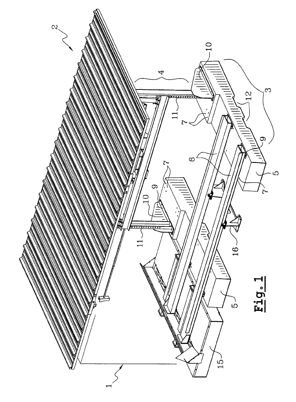 Patent ep1354827a1 abri pour conteneur ou benne de for Structure conteneur