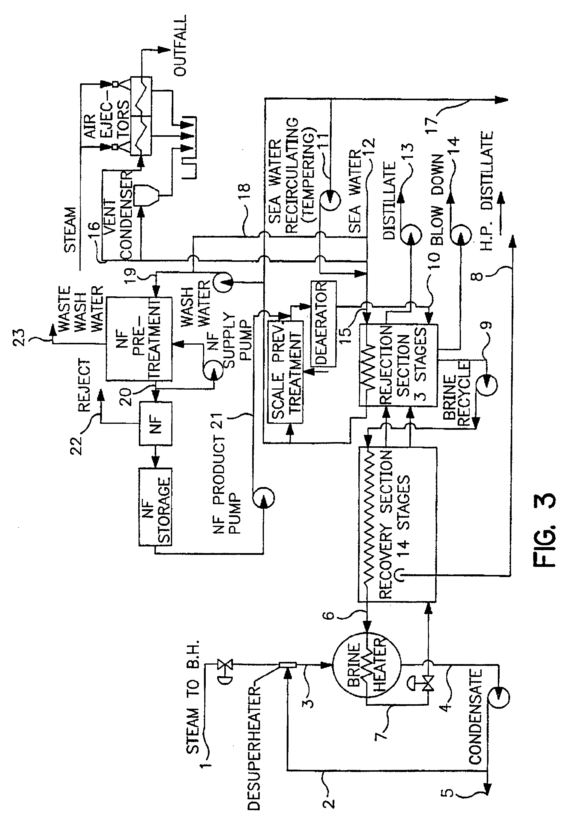 Patent EP A2 A salt water desalination process using ion