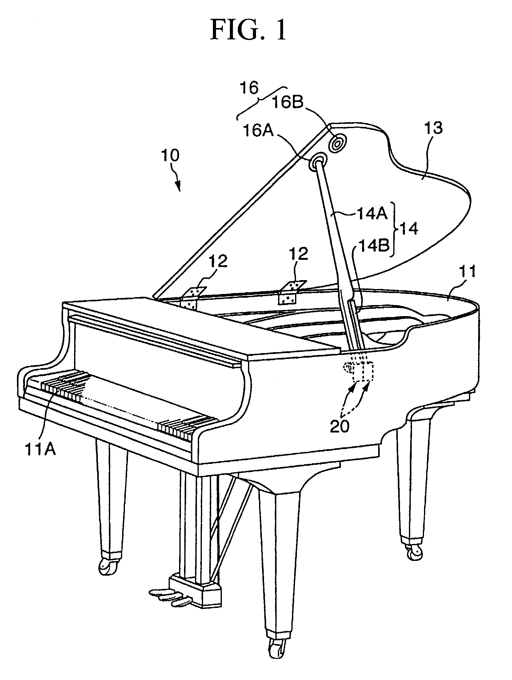 Patent ep1361390a2 brace rotating mechanism google patents for Smallest baby grand piano dimensions