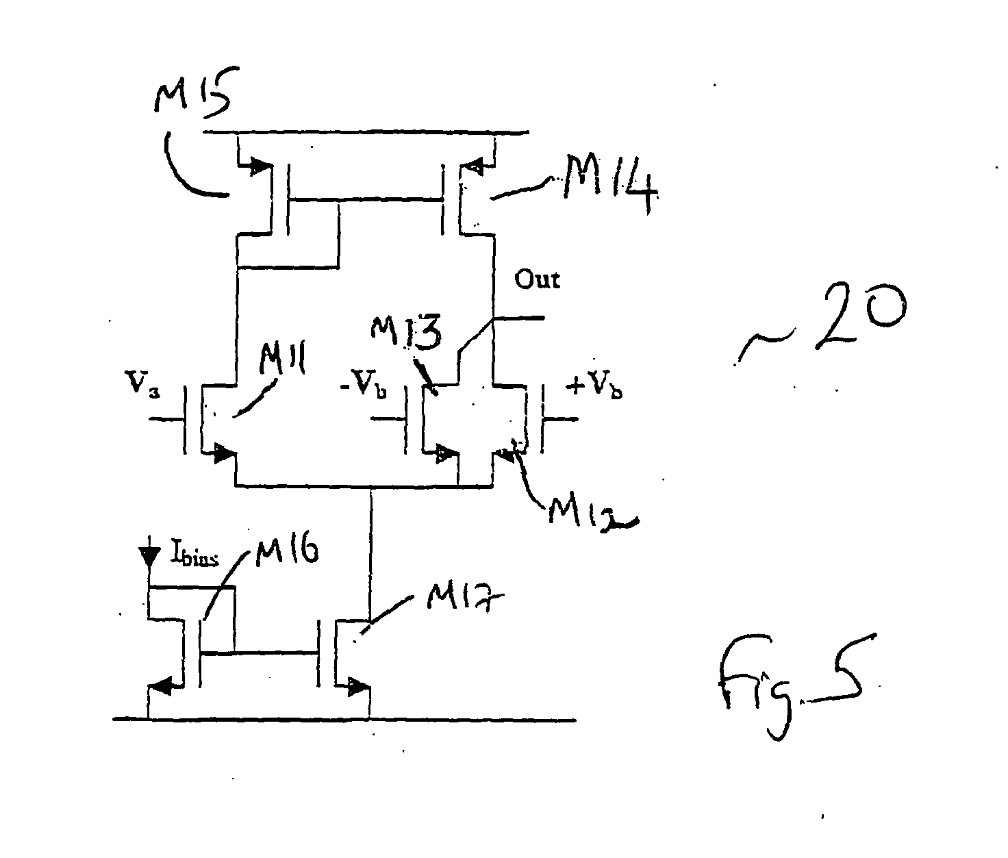 patent ep1376860a1 - asymmetrical differential amplifier