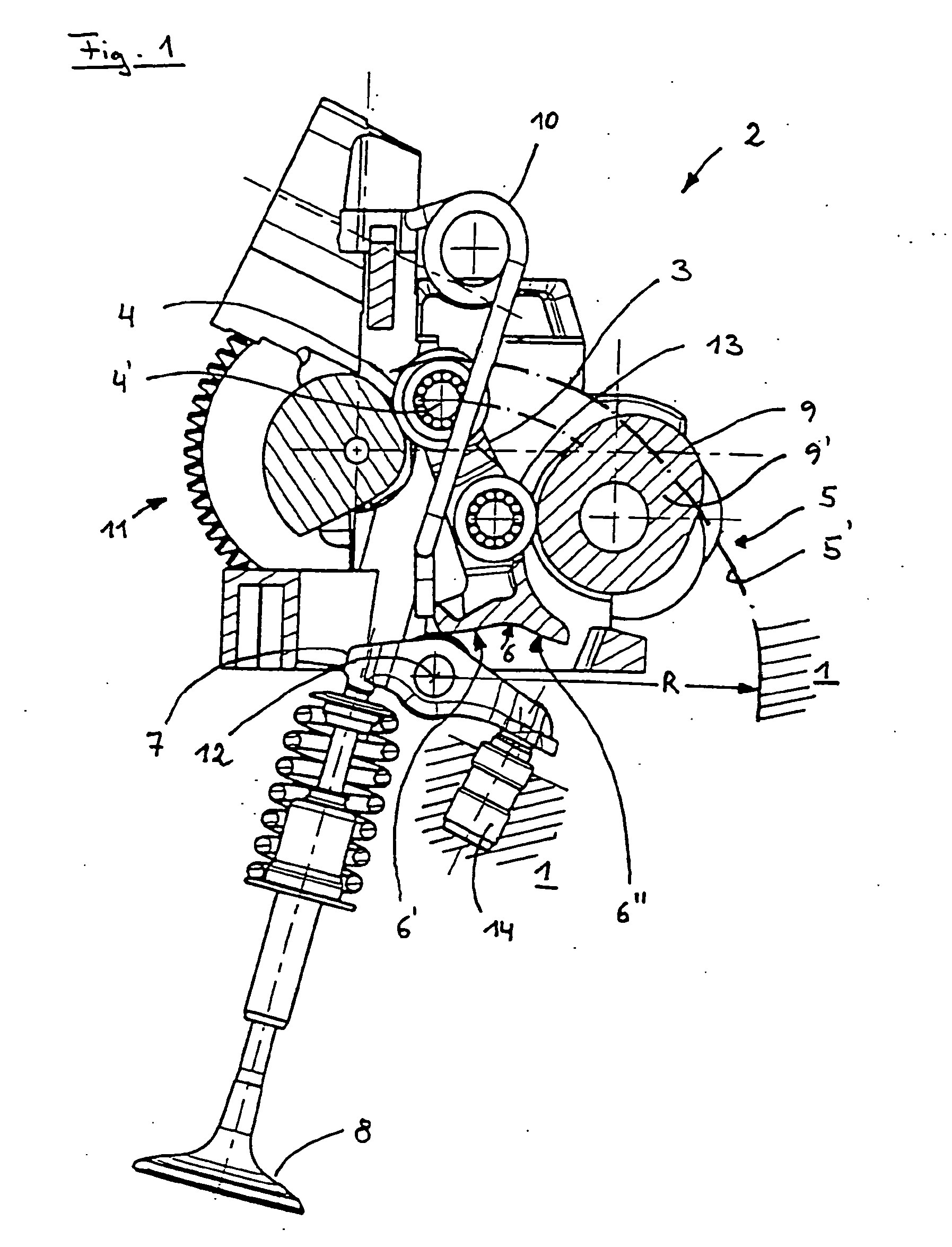 Combustion Engine Lever : Patent ep b rocking lever for valve drive with