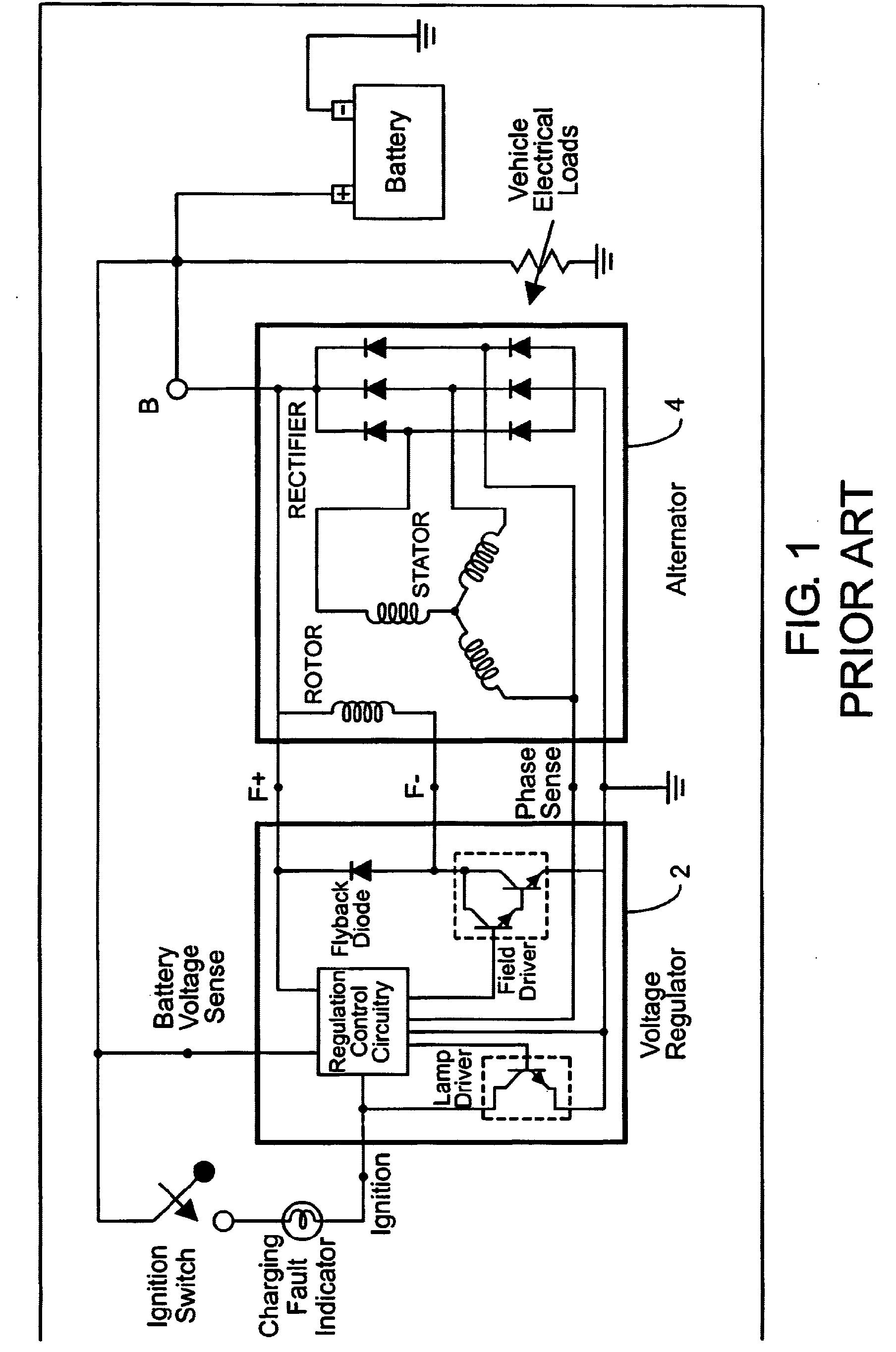 patent ep1401081a2 intelligent automotive voltage regulation patent drawing