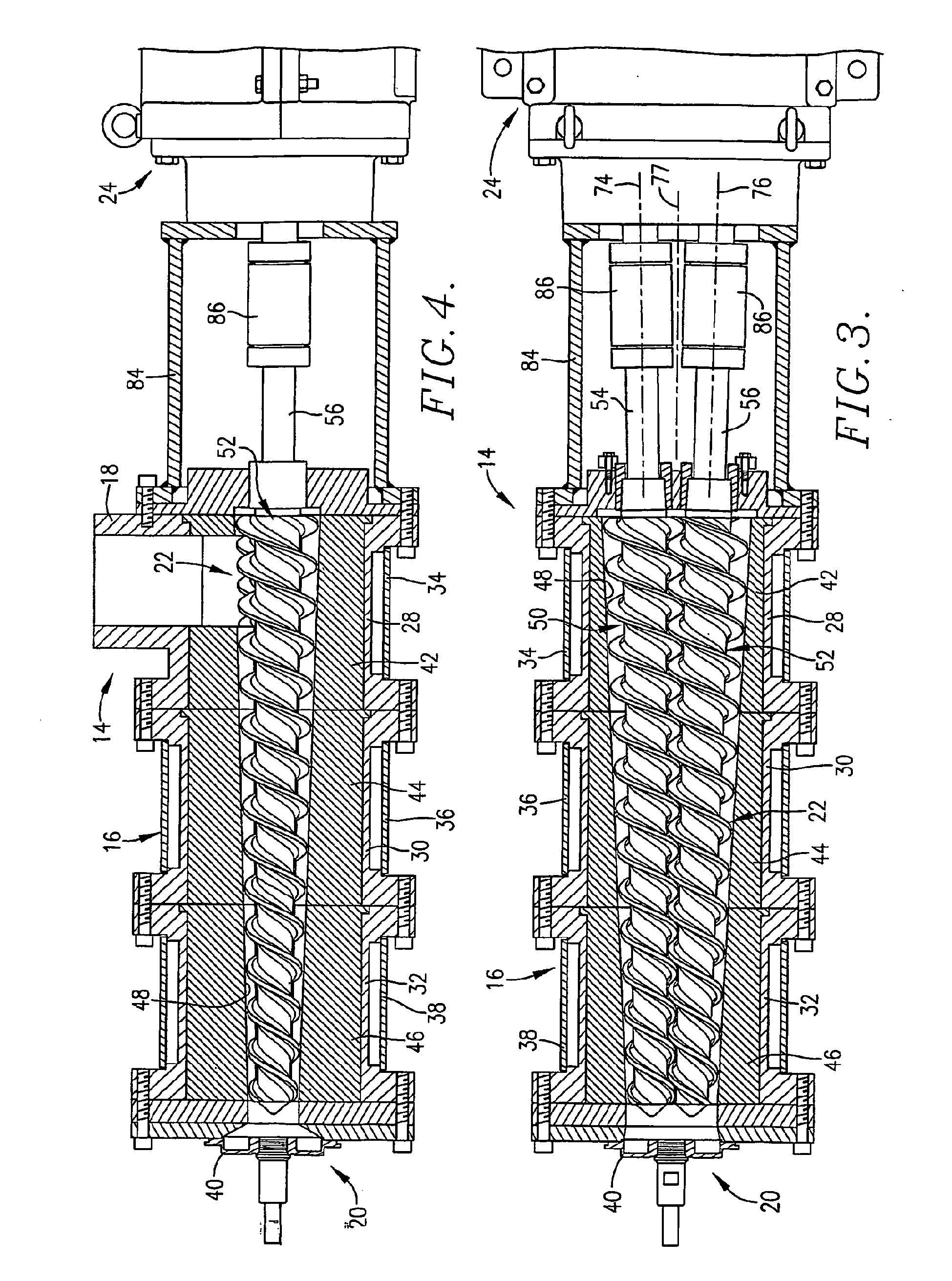 Patent EP1417083B1 Doppelschneckenextruder mit konischen  #434343