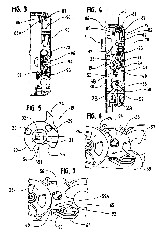 patent ep1431484b1 cr mone barillet pour porte fen tre ou analogue google patents. Black Bedroom Furniture Sets. Home Design Ideas