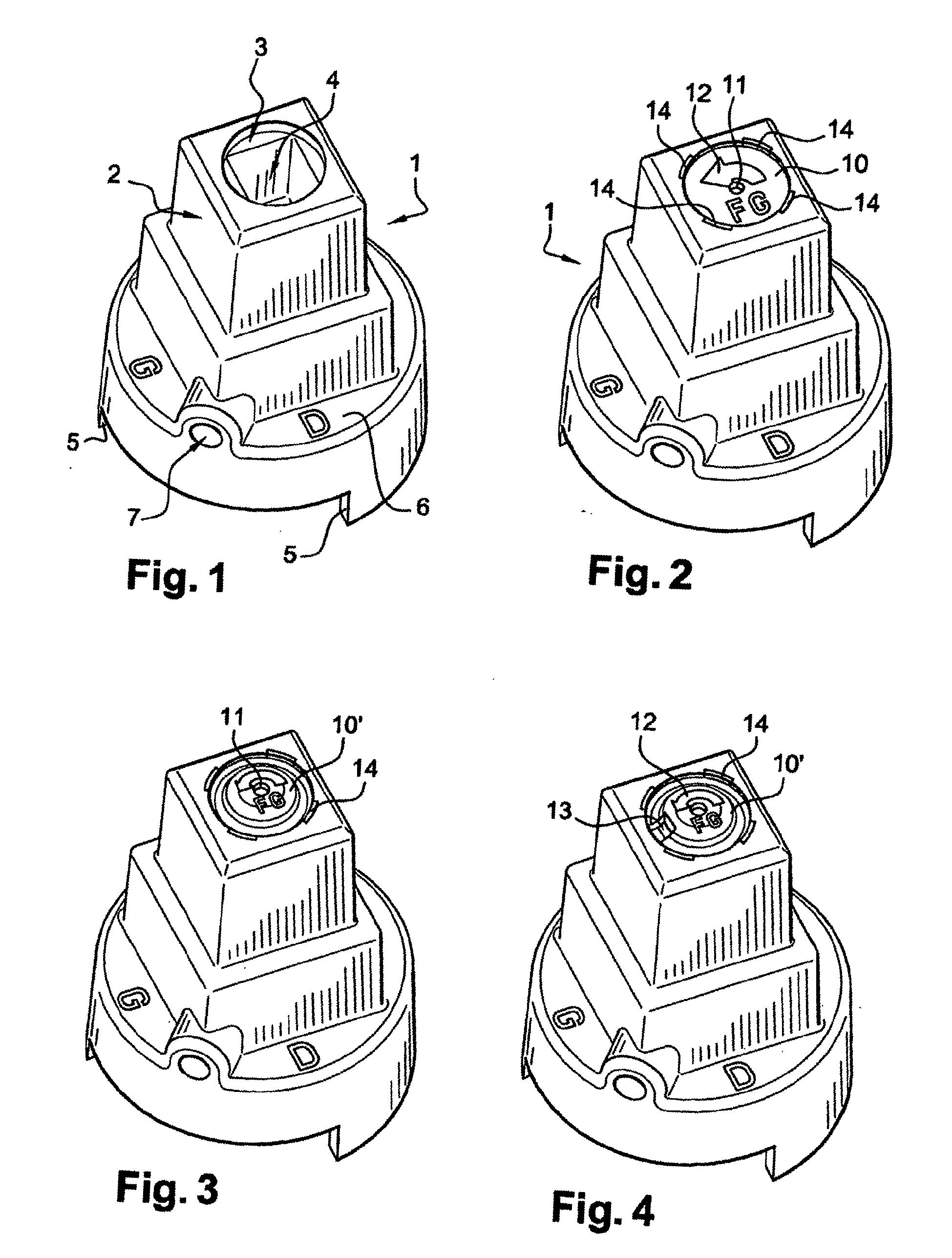 patent ep1439267b1 chapeau d 39 ordonnance pastille magn tisable pour organe de commande. Black Bedroom Furniture Sets. Home Design Ideas