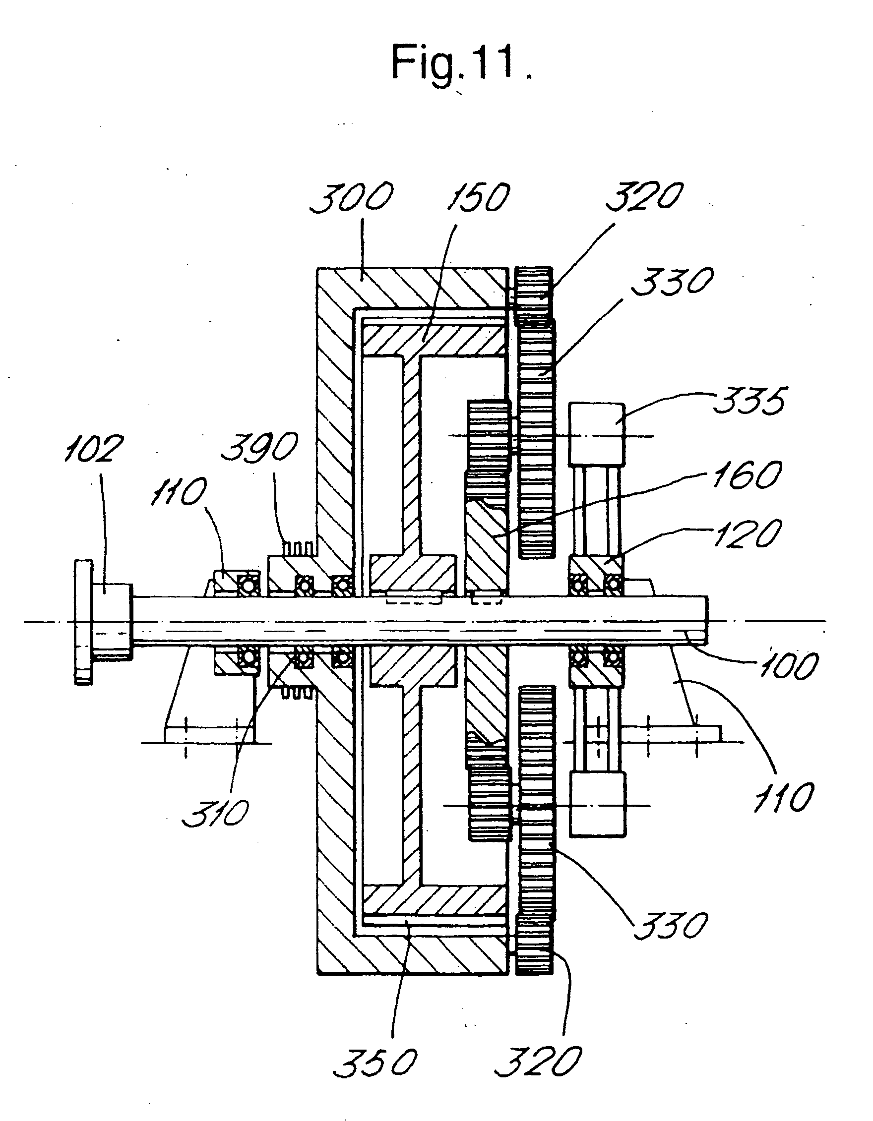 patent ep1467093a1 - generator for water current turbine with counter-rotating rotors