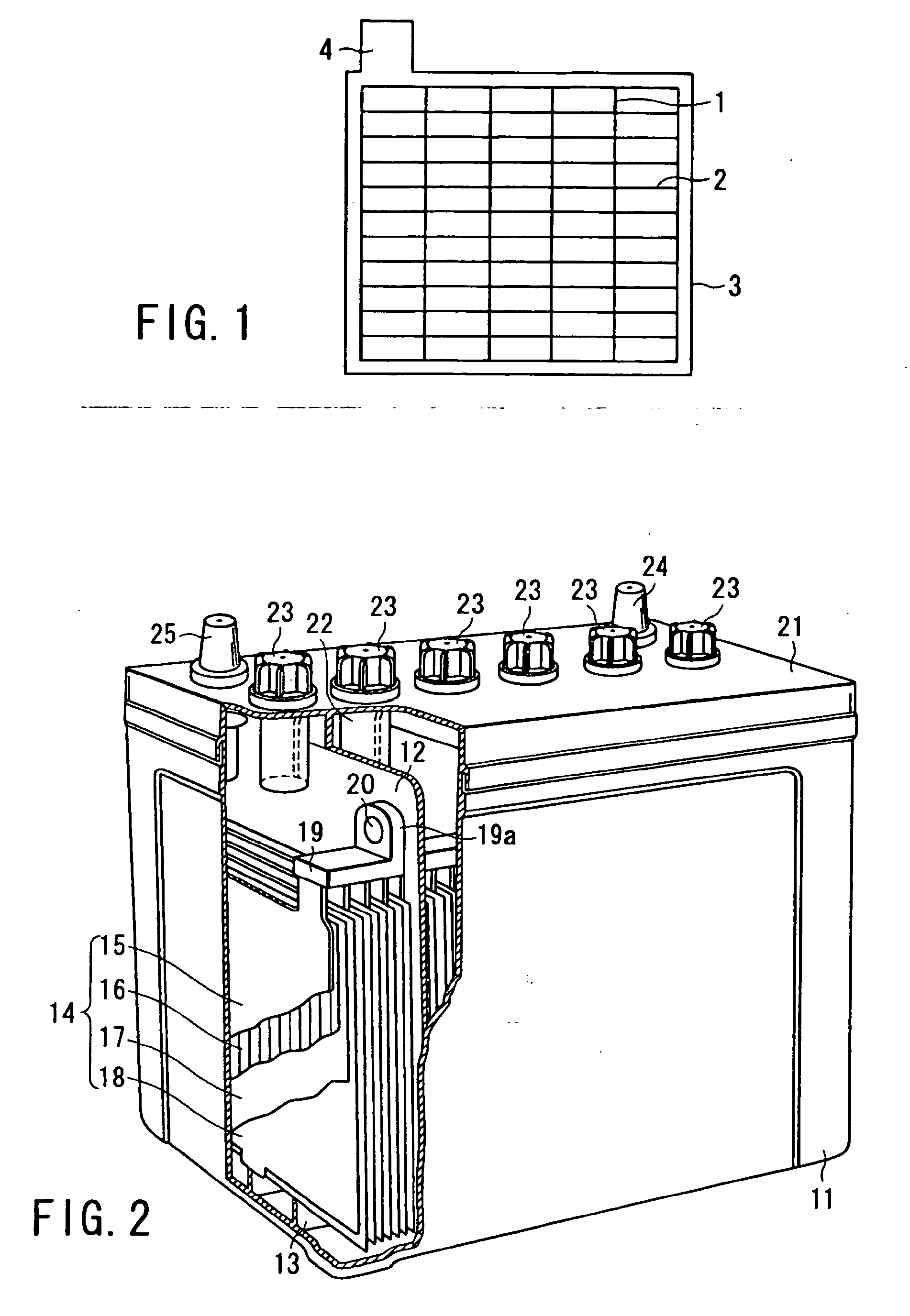 Construction of lead storage battery needs