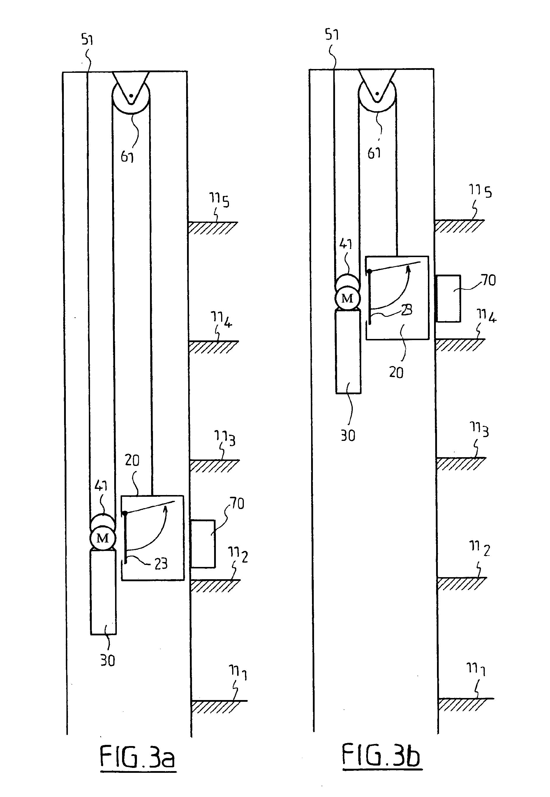 patent ep1512657a1 syst me d 39 ascenseur pourvu d 39 une. Black Bedroom Furniture Sets. Home Design Ideas