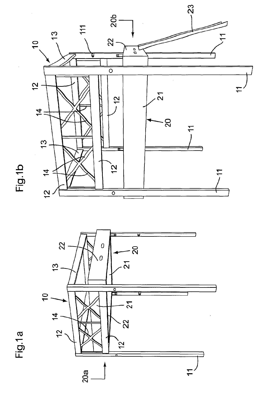 patent ep1516567a1 lit escamotable en mezzanine google patents. Black Bedroom Furniture Sets. Home Design Ideas