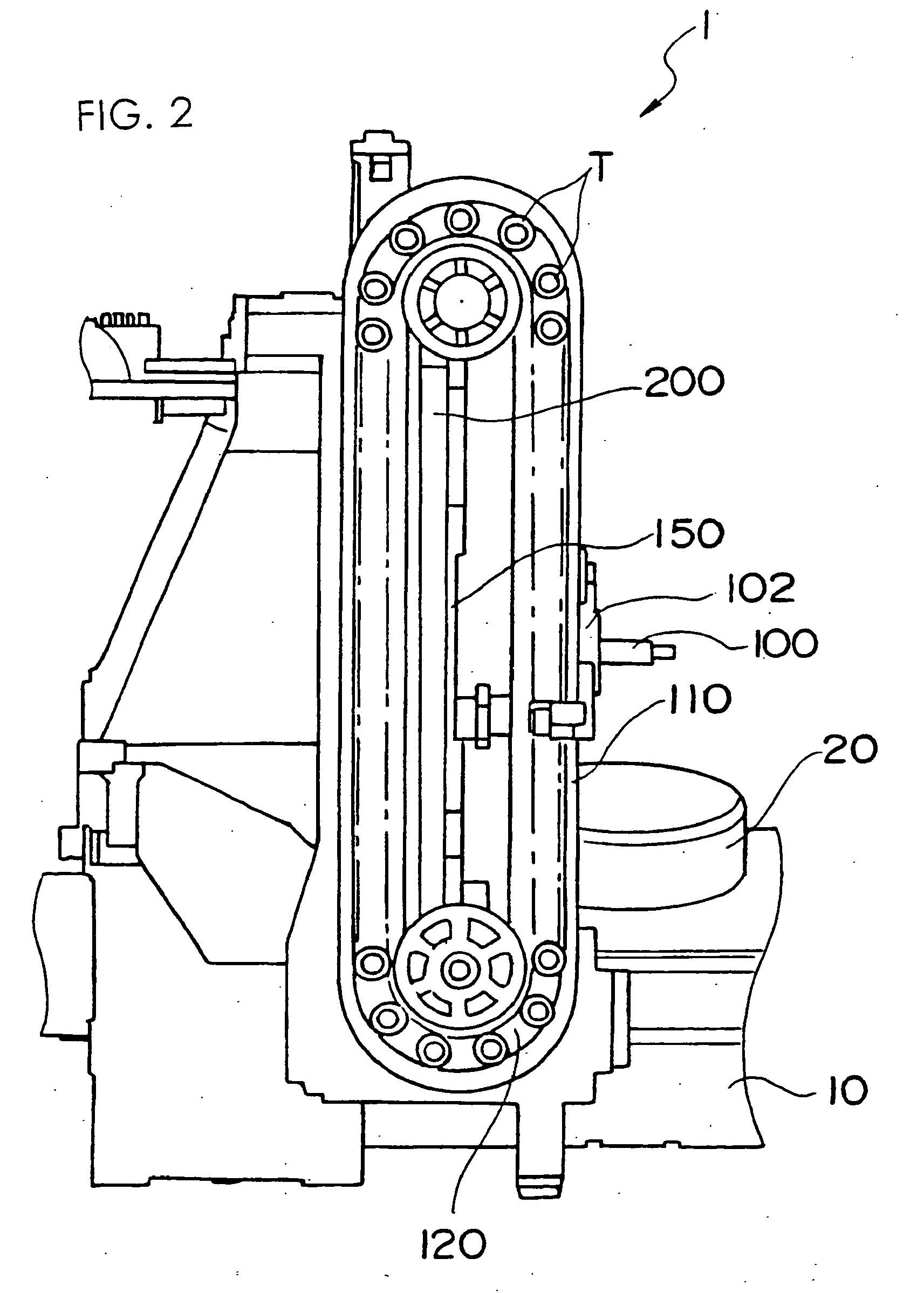 patent ep1525946b1 - horizontal machining center