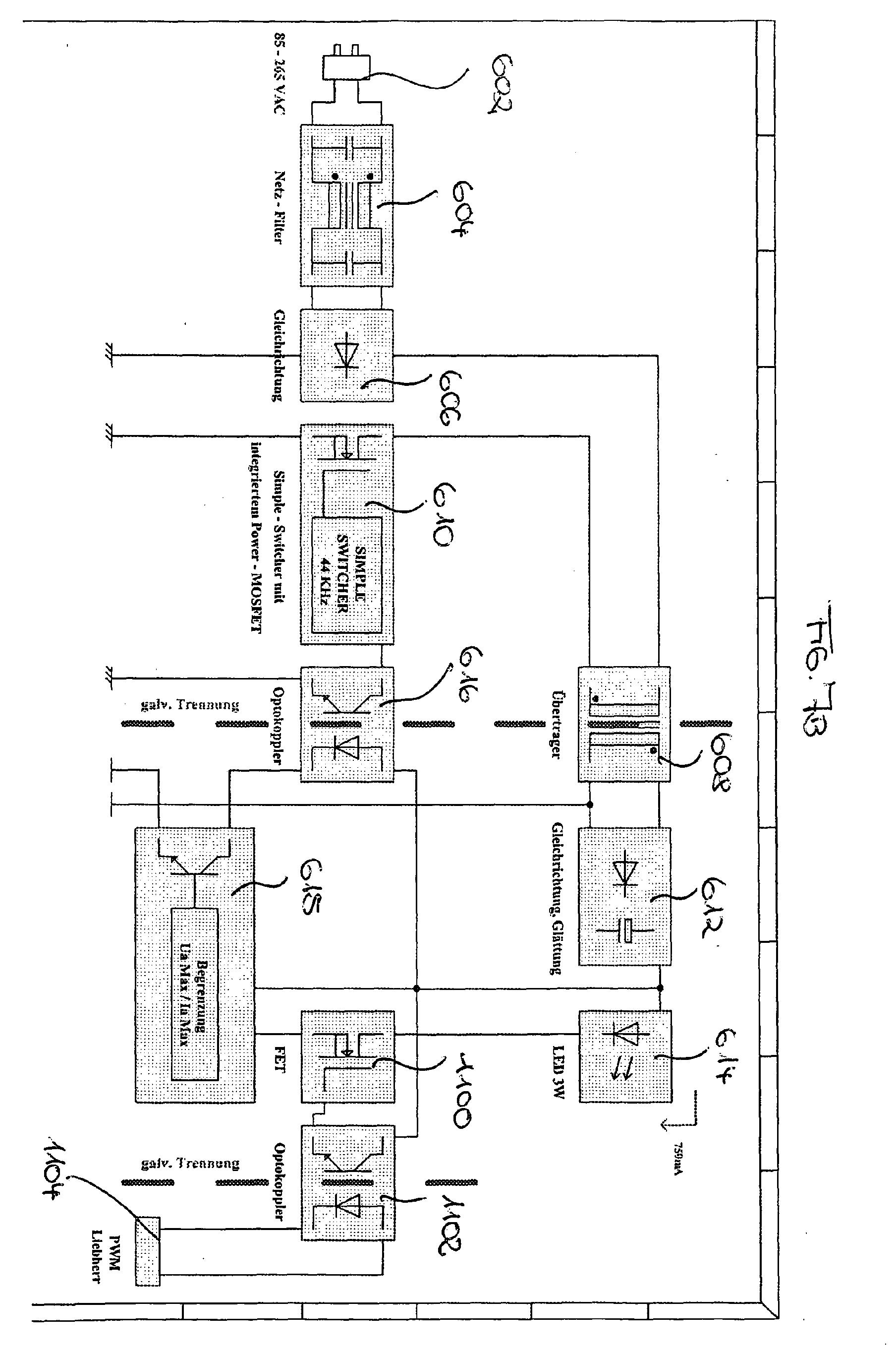 patent ep1533583a2 innenbeleuchtung f r ein temperierger t mit einer leuchtdiode als. Black Bedroom Furniture Sets. Home Design Ideas