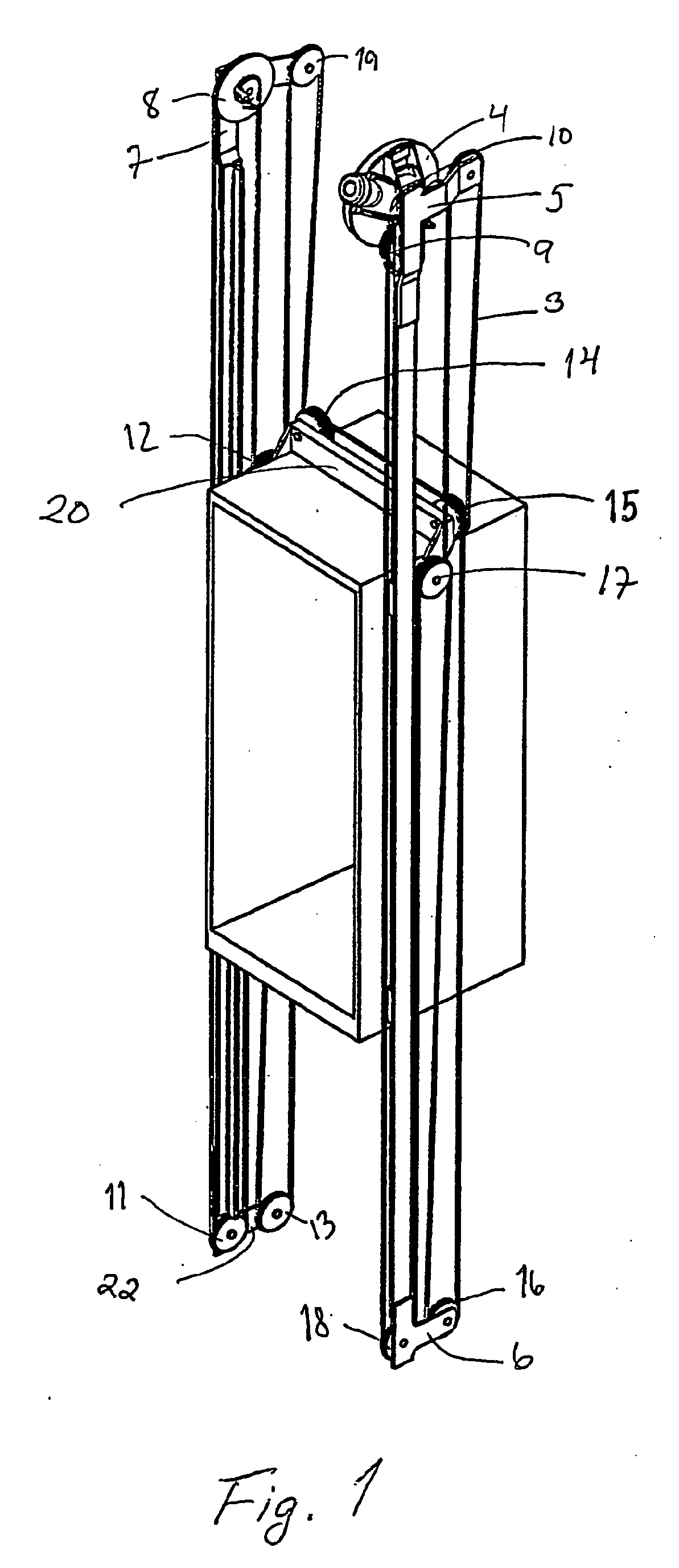 Rope And Pulley Elevator : Patent ep b traction sheave elevator without