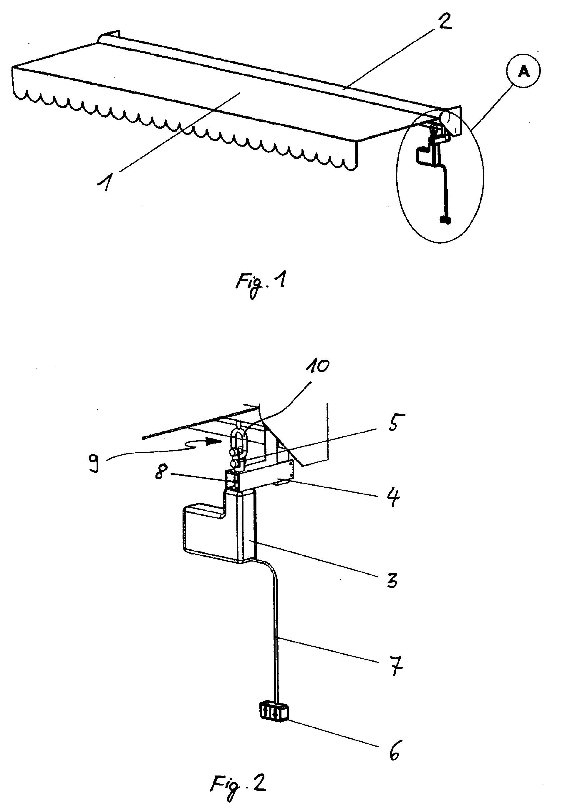 patent ep1577459a2 nachr stbarer markisenantrieb. Black Bedroom Furniture Sets. Home Design Ideas